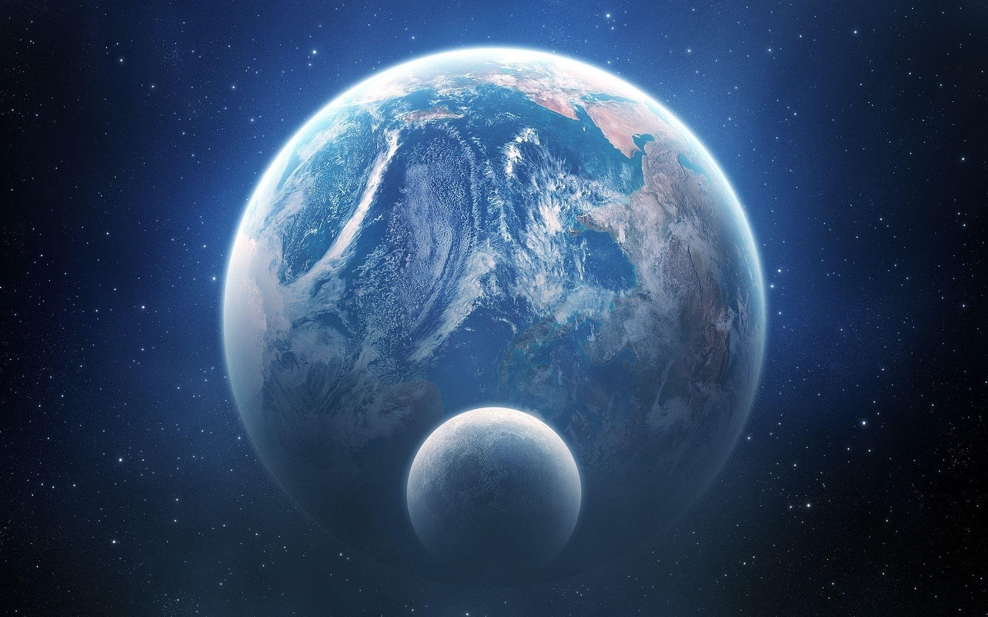 General 1920x1200 space planet Moon space art Earth digital art DeviantArt