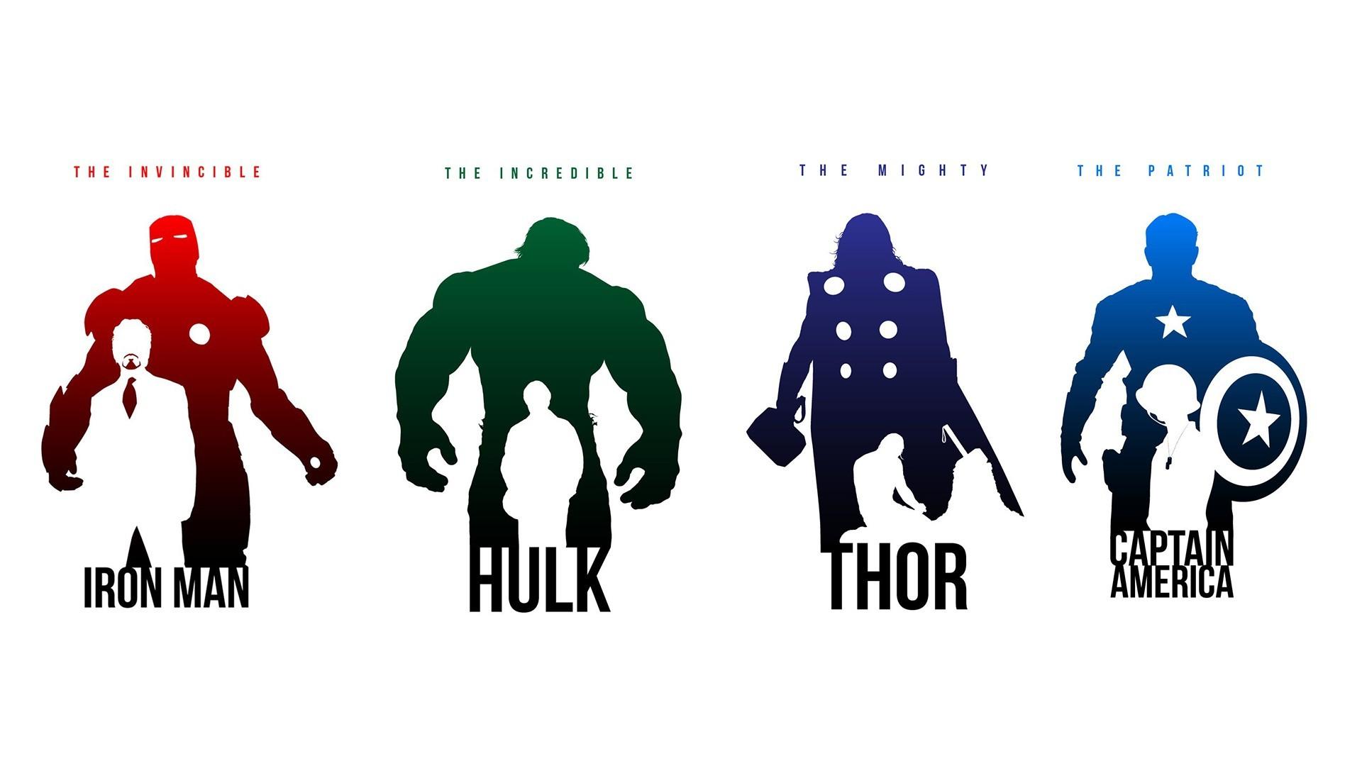 General 1920x1080 comics Hulk Iron Man Captain America Thor Marvel Cinematic Universe