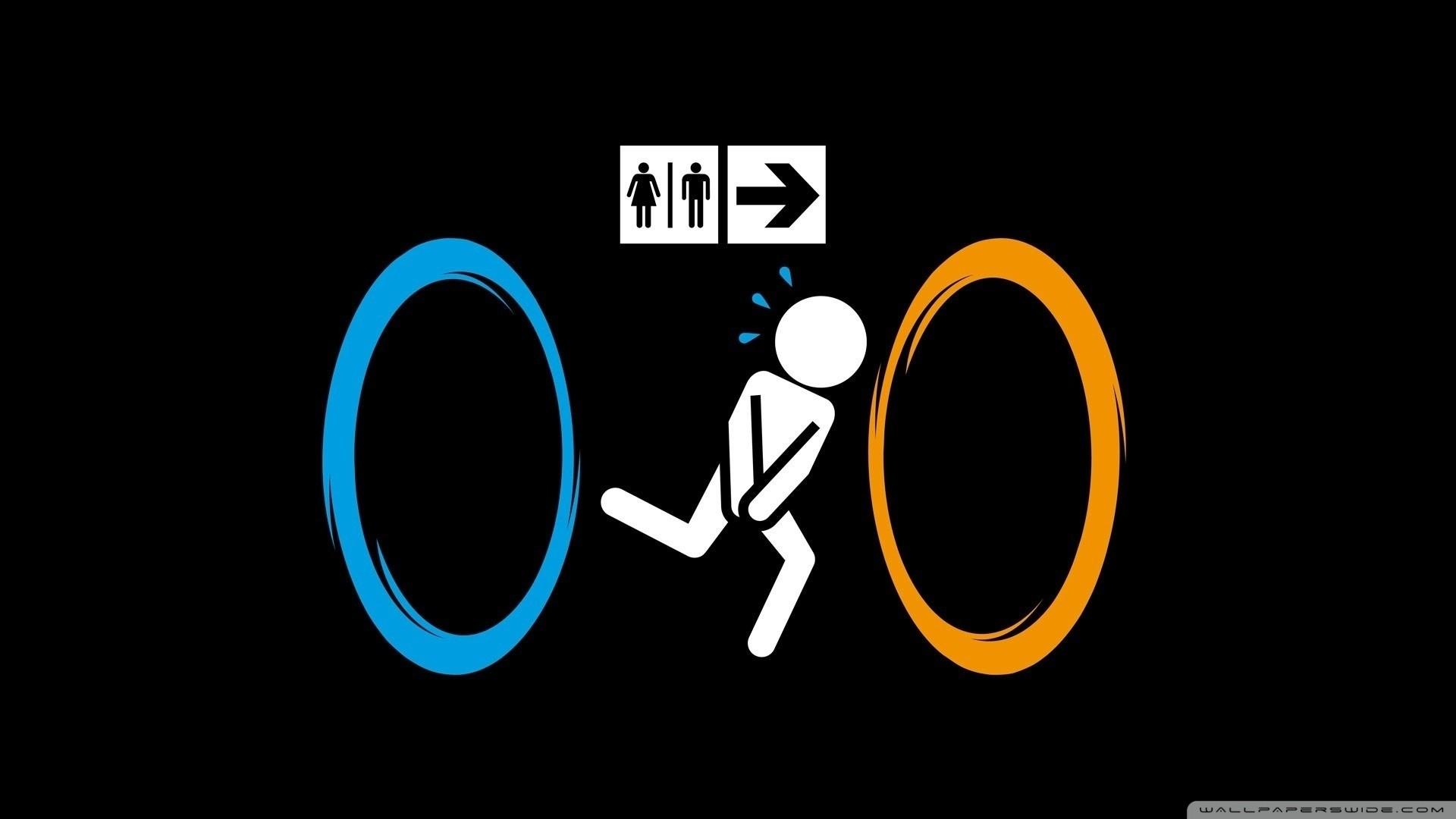 General 1920x1080 Portal (game) humor simple background black background minimalism video games Valve Portal 2 memes