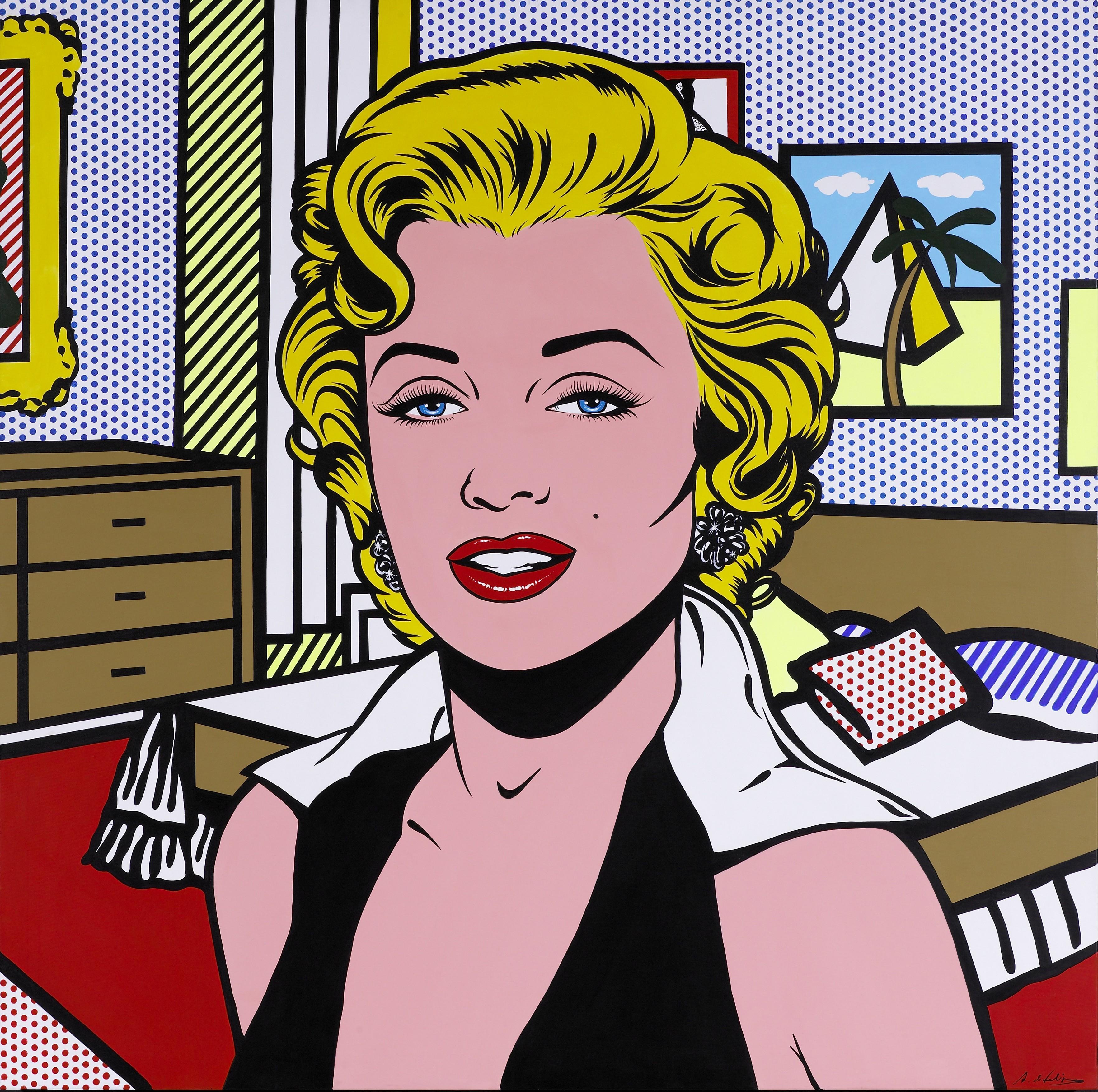 General 3528x3510 vintage Marilyn Monroe women artwork pop art