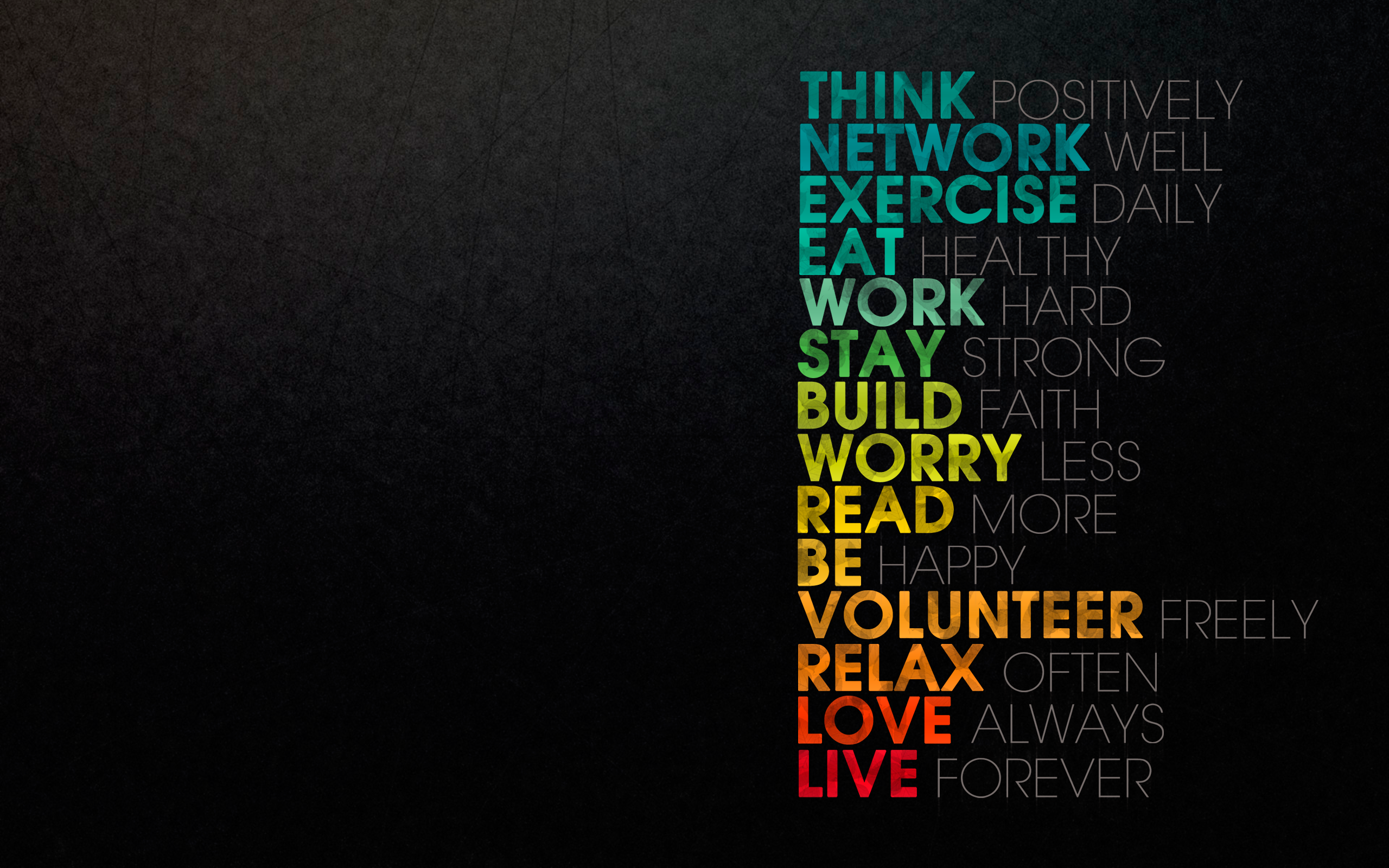 General 2560x1600 quote digital art motivational typography simple background inspirational colorful artwork text minimalism humor