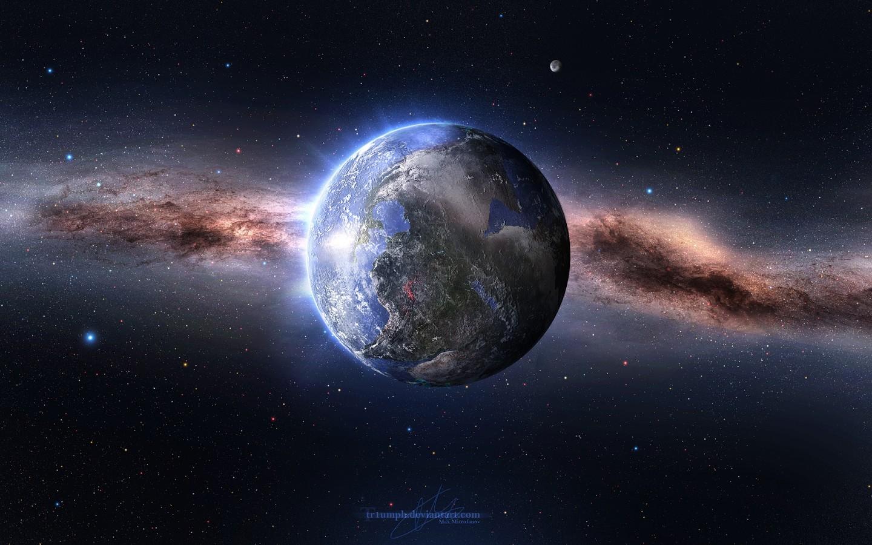 General 1440x900 space art space planet digital art