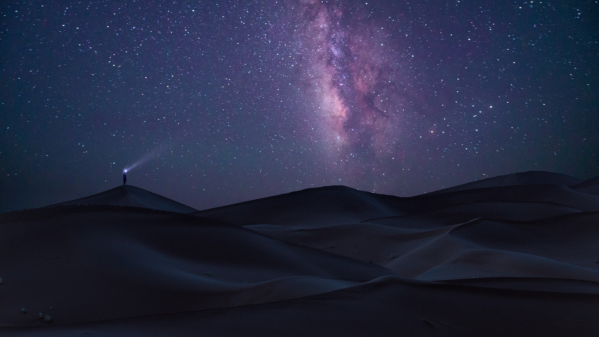General 1920x1080 nature landscape long exposure desert Sahara Milky Way starry night space purple