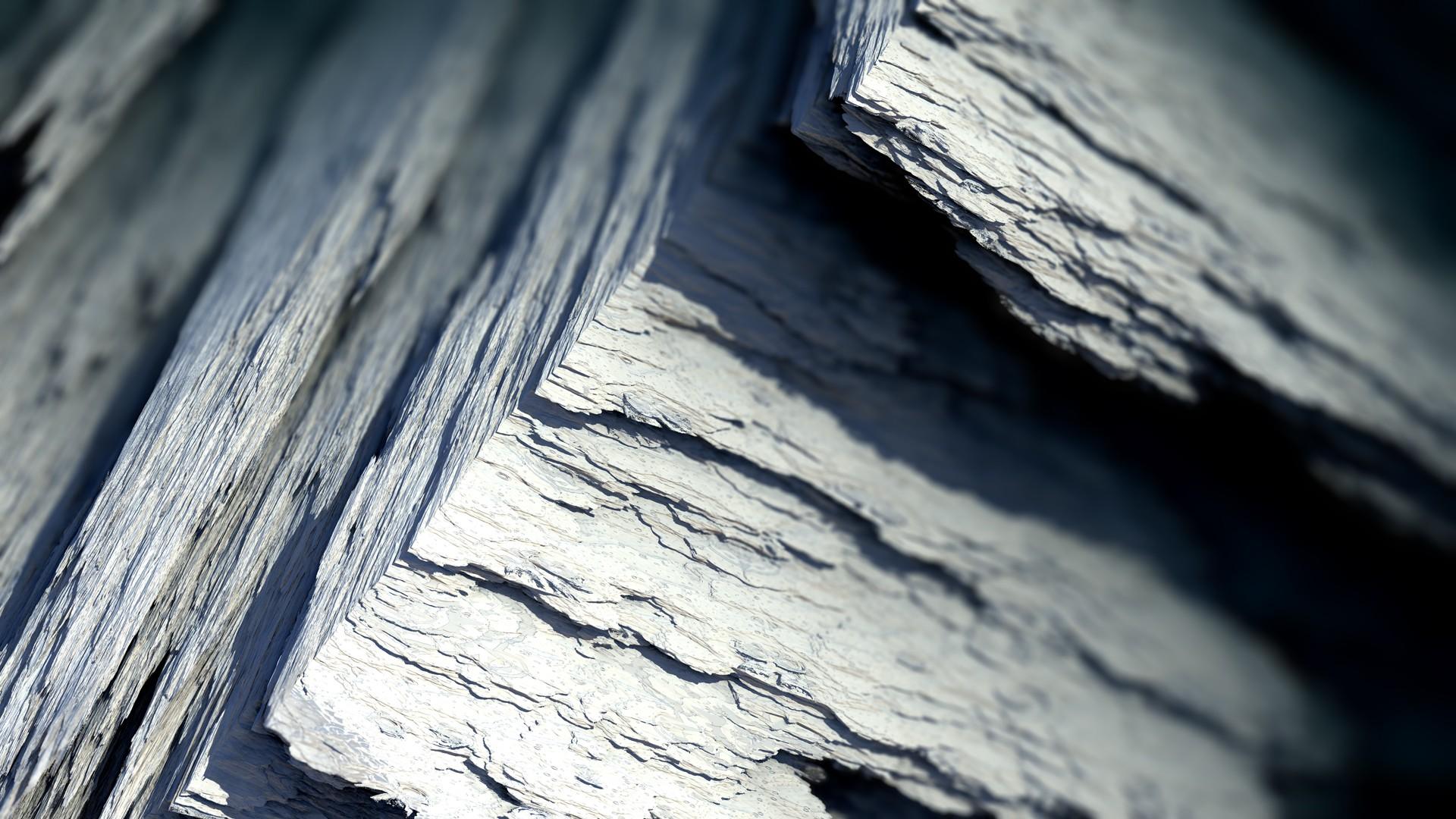 General 1920x1080 Procedural Minerals mineral abstract CGI render digital art artwork gray