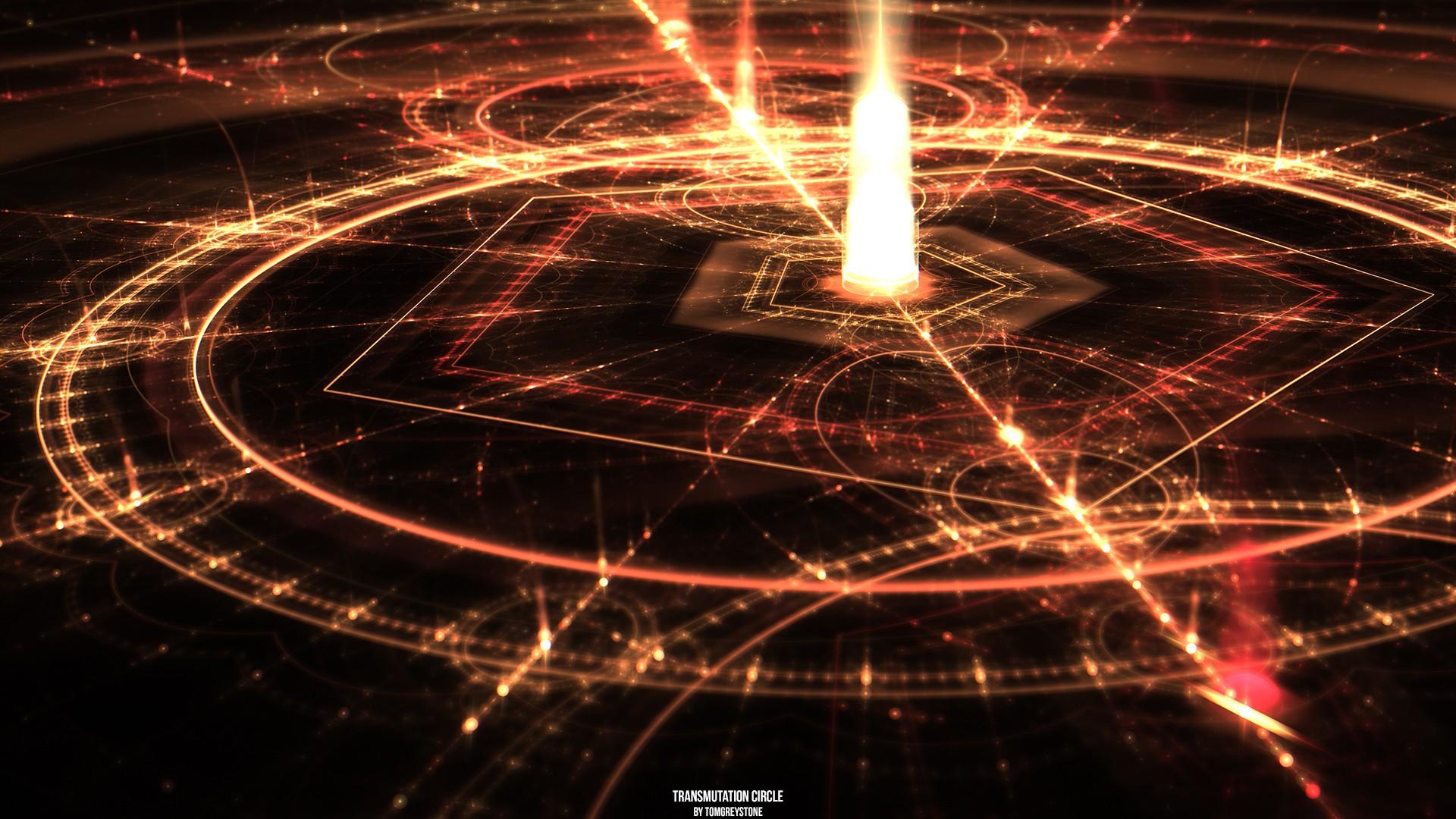 General 1920x1080 abstract circle geometry lights Full Metal Alchemist Transmutation Circle