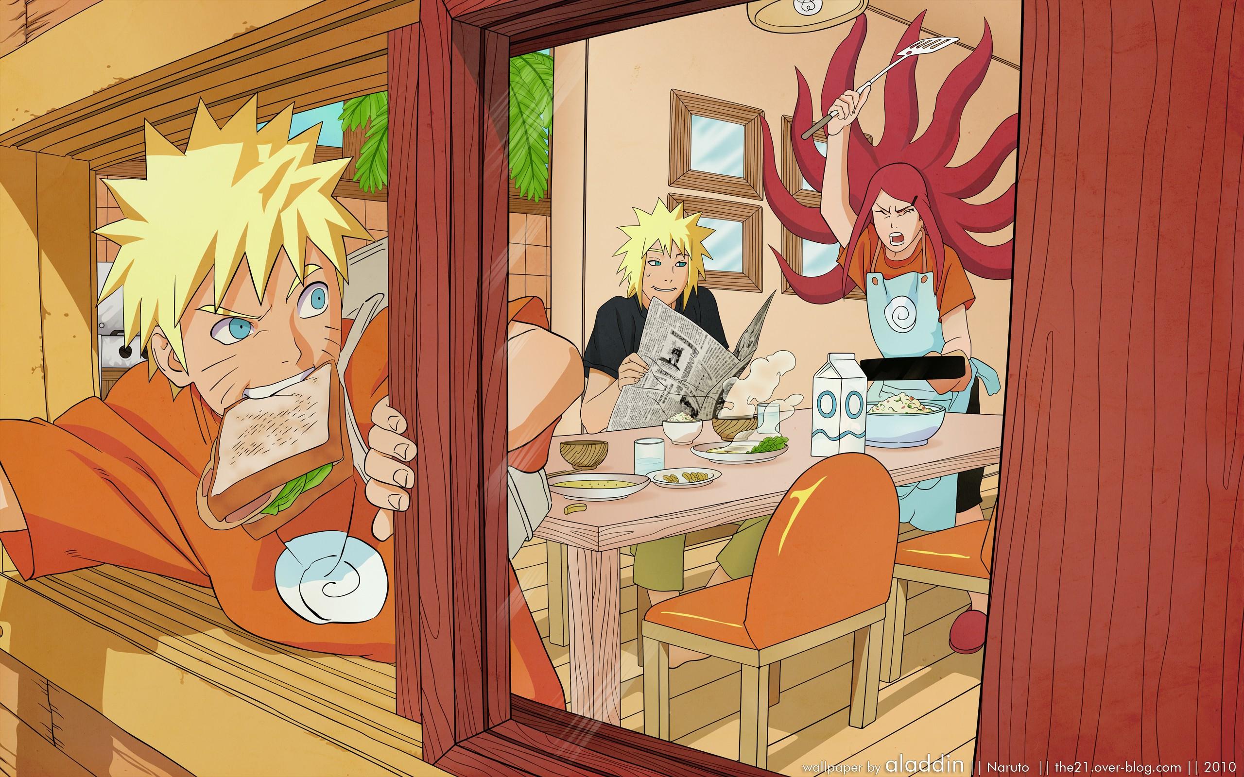 Anime 2560x1600 anime Uzumaki Naruto Naruto Shippuuden Uzumaki Kushina Hokage Namikaze Minato