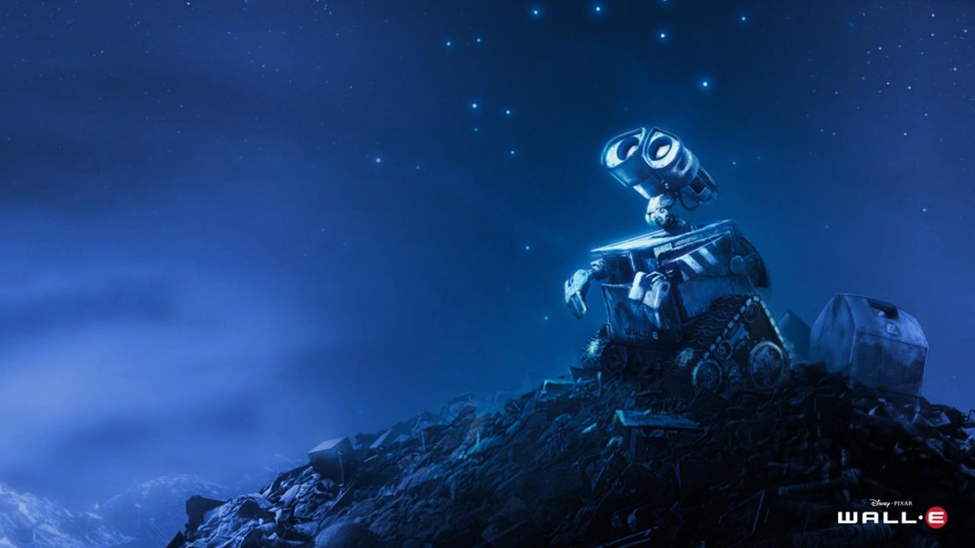 General 1366x768 WALL·E animated movies movies Robots Pixar Animation Studios