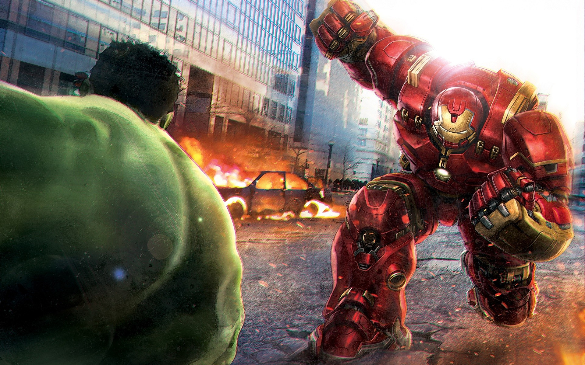 General 1920x1200 The Avengers Avengers: Age of Ultron Iron Man Hulk Marvel Comics comics superhero concept art battle