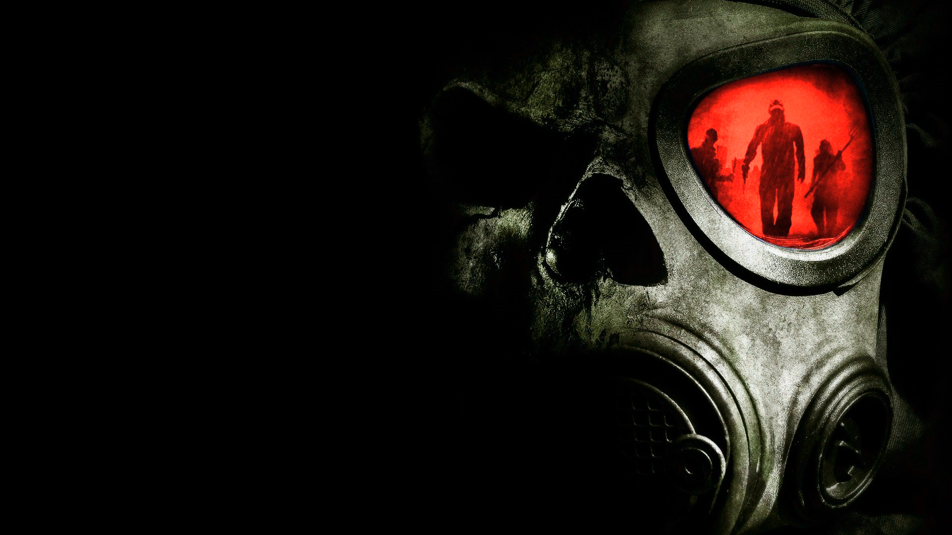 General 1920x1080 apocalyptic mask digital art black background