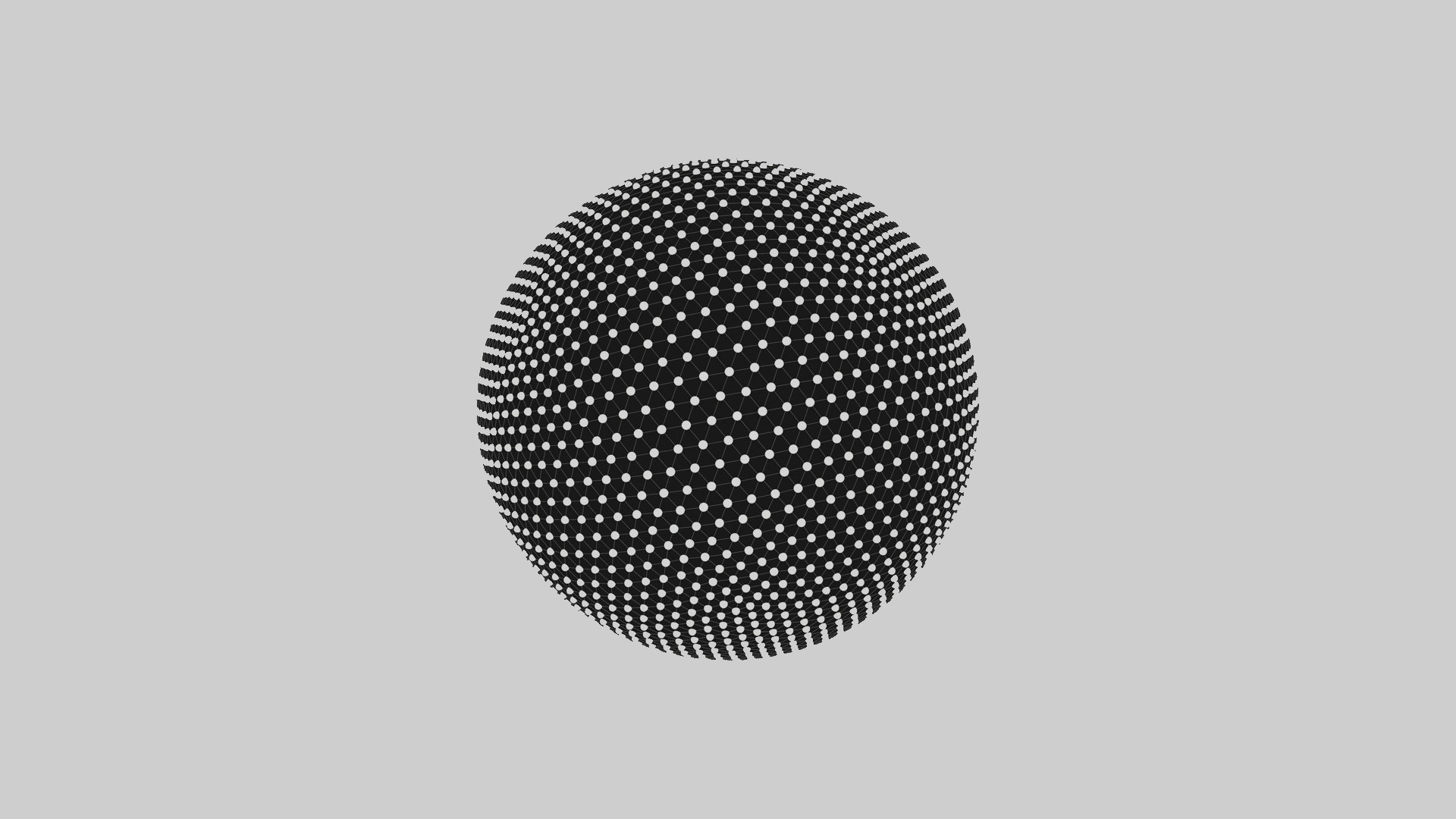 General 1920x1080 monochrome sphere digital art abstract grid 3D Abstract Sphere Grid vector CGI simple background white background Digital Grid