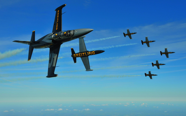 General 2880x1800 airplane aircraft sky Breitling blue Aero L-139 Albatros