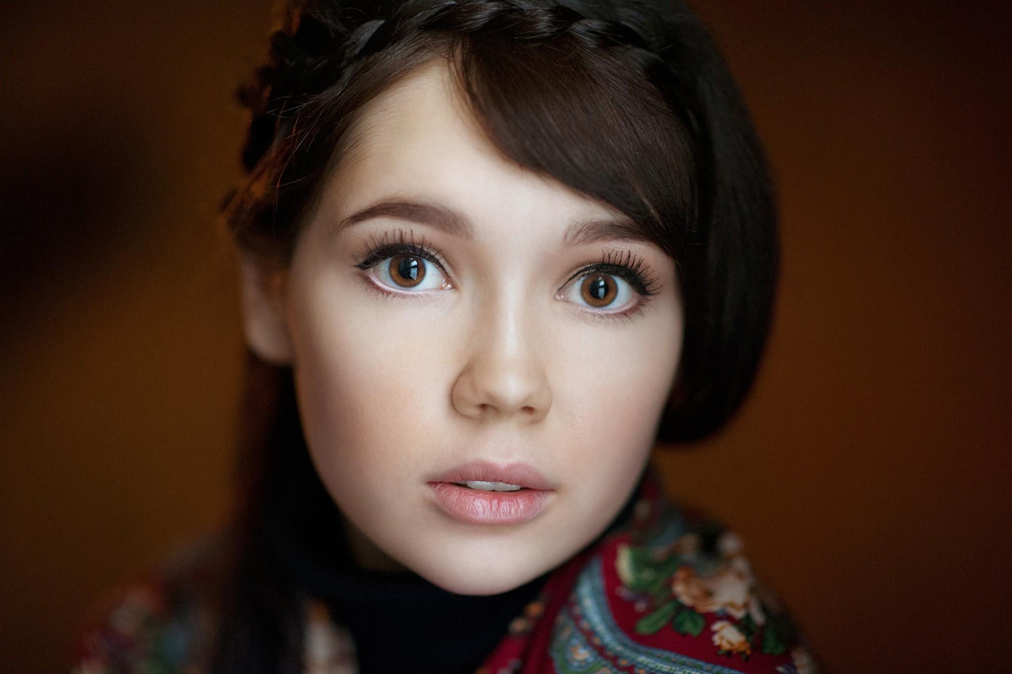People 2048x1363 Ekaterina Ermakova women face portrait