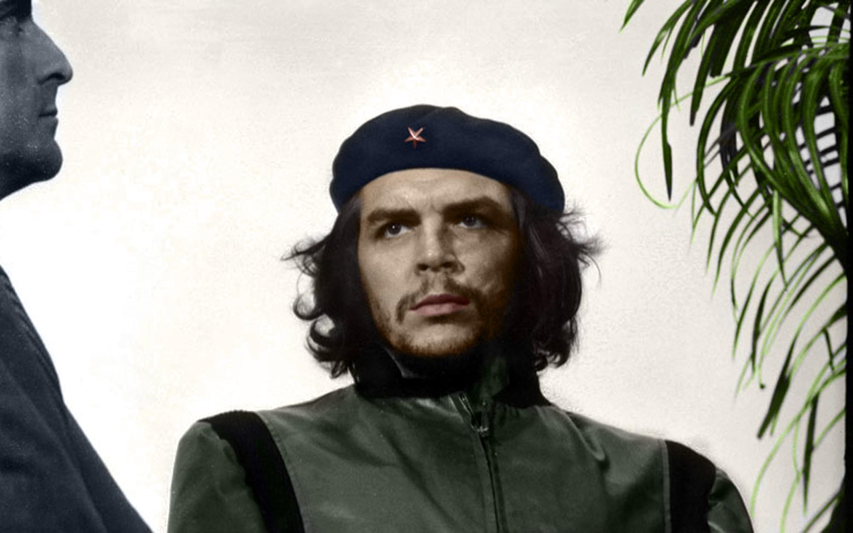 People 1680x1050 Che Guevara colorized photos hat beards men historic