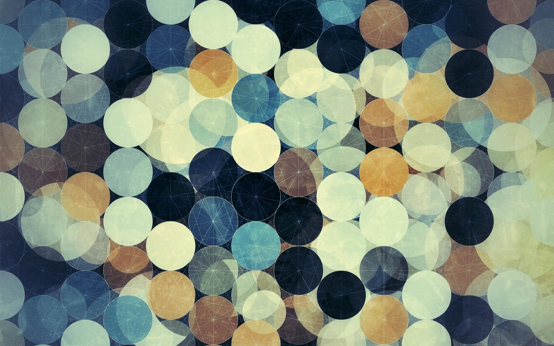 General 2456x1535 abstract circle geometry digital art dots blue gray