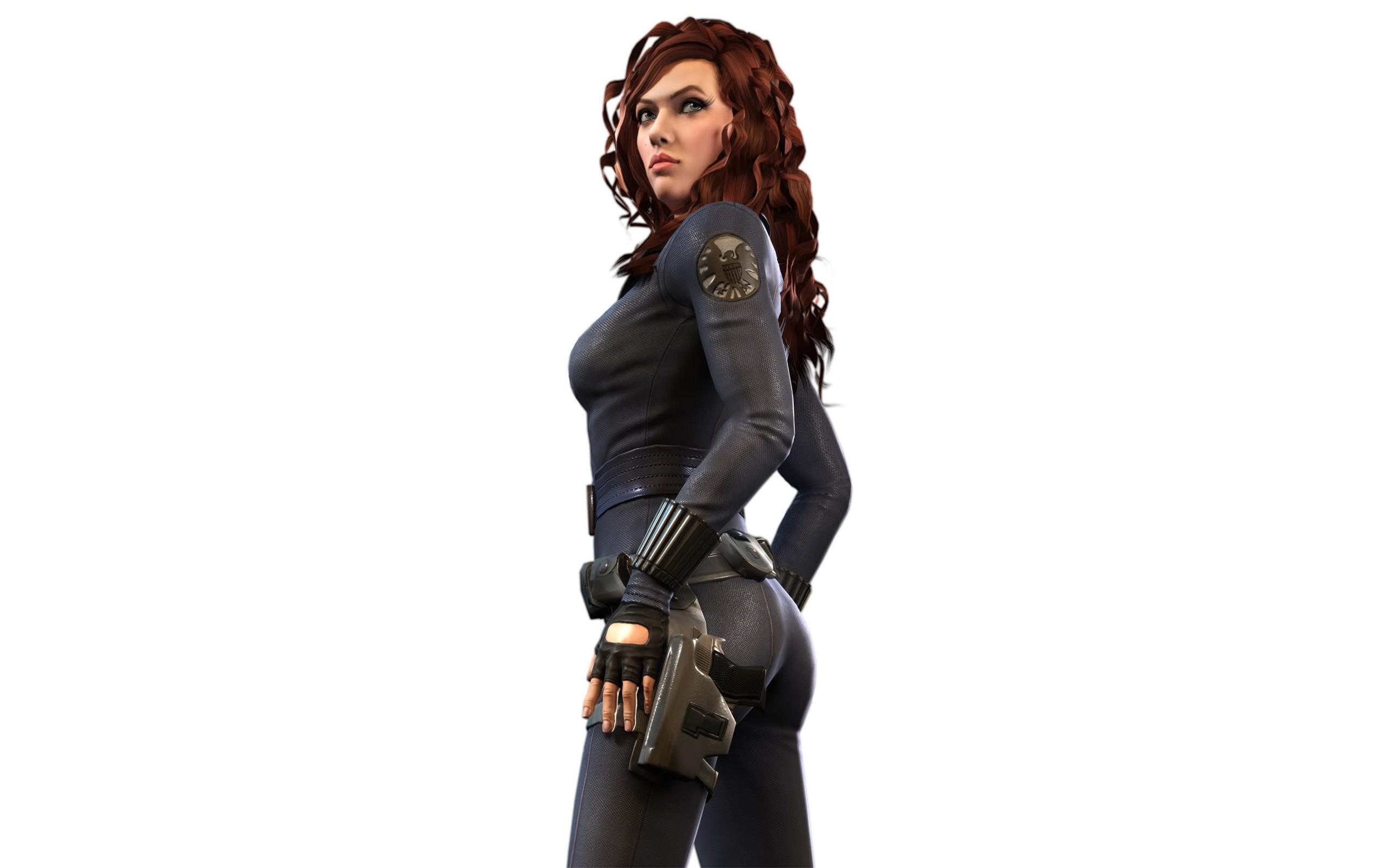 People 2560x1600 Black Widow Scarlett Johansson Iron Man 2 Marvel Comics The Avengers