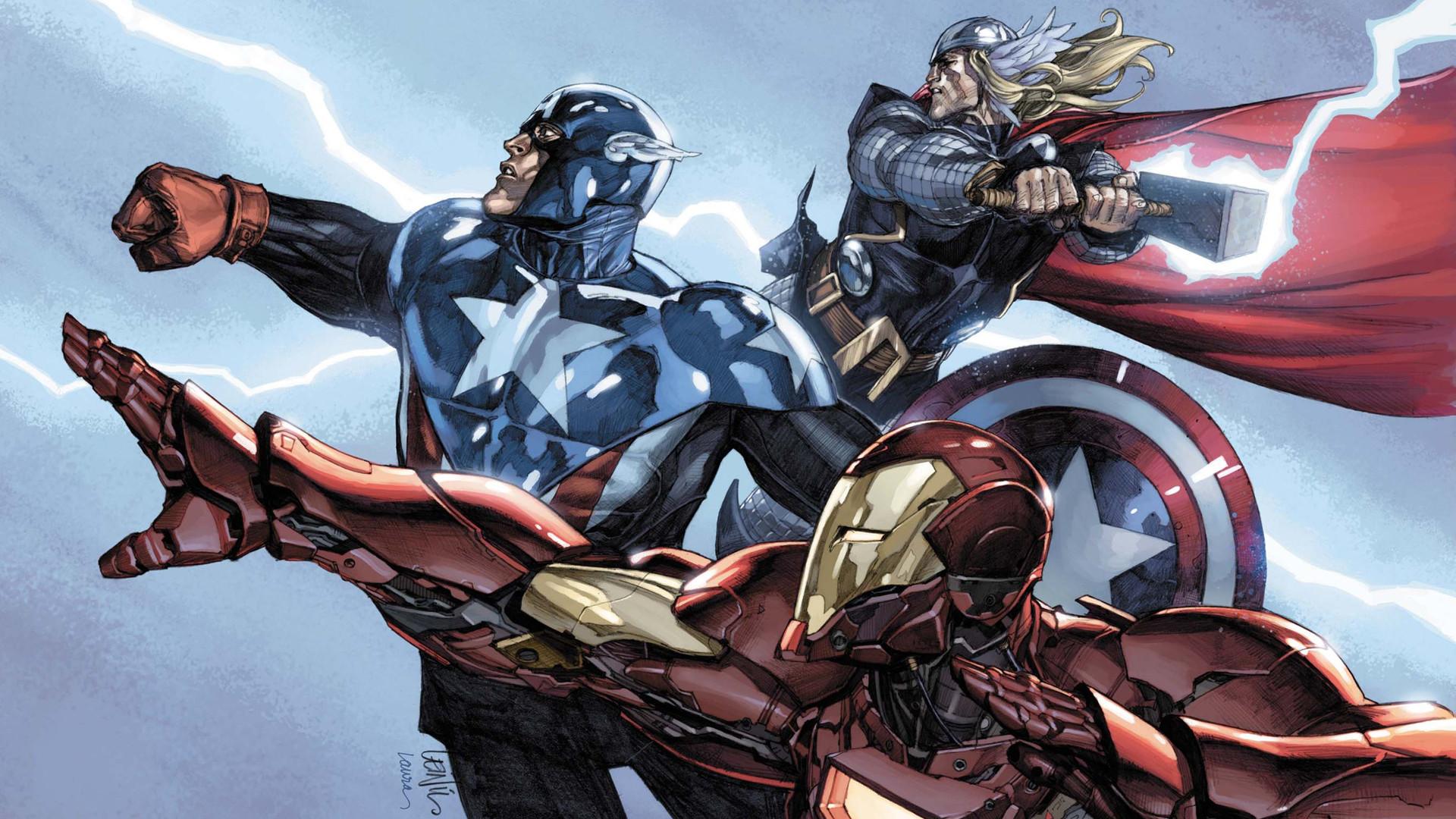 General 1920x1080 Captain America Marvel Comics superhero lightning