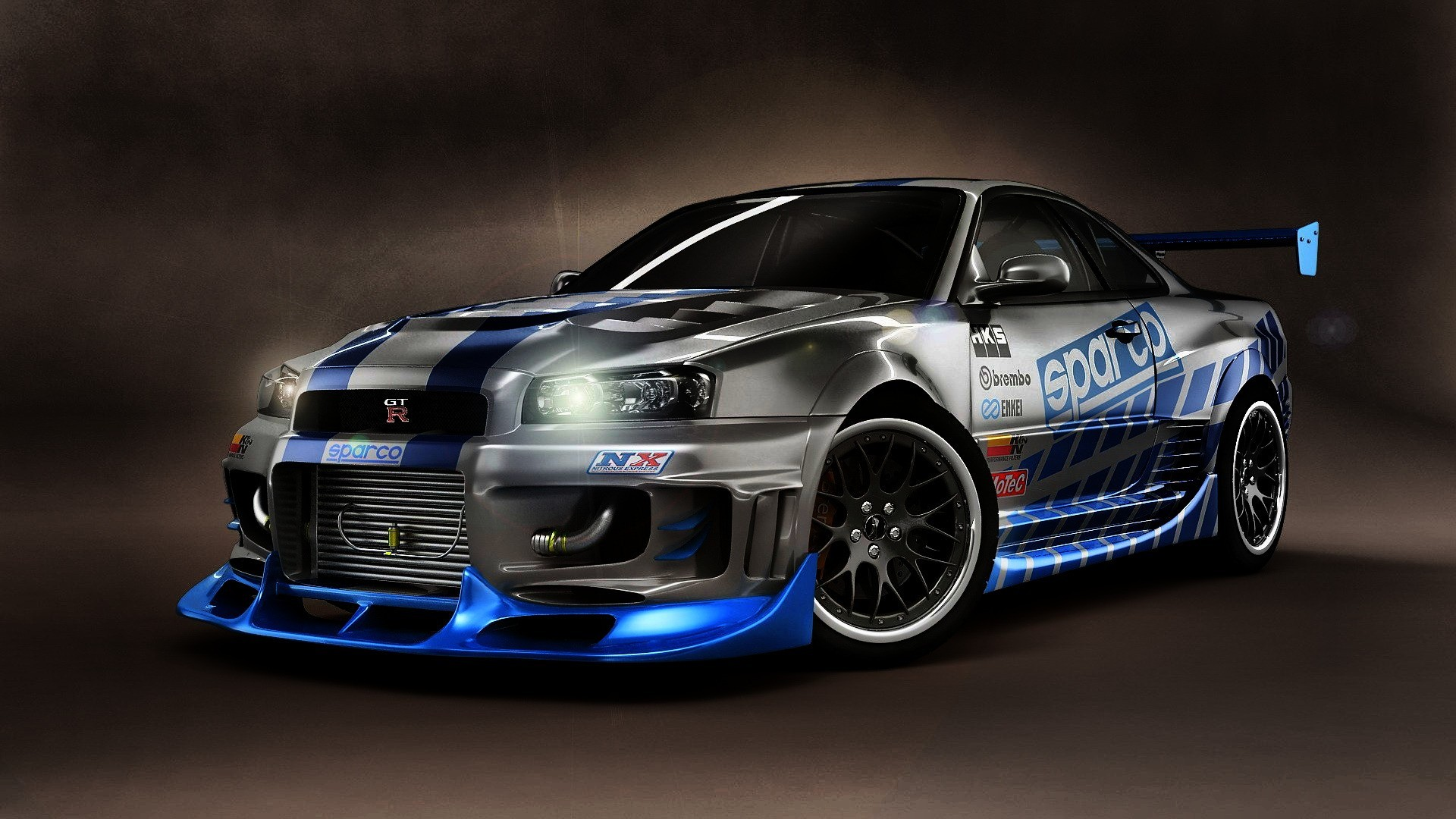 General 1920x1080 Nissan Skyline GT-R Nissan Skyline GT-R R34 car vehicle silver cars Nissan