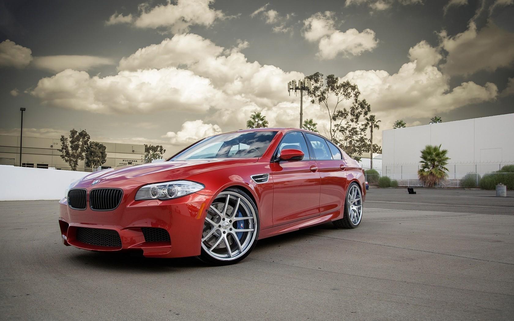 General 1680x1050 car BMW red cars vehicle BMW F10 BMW 5 Series