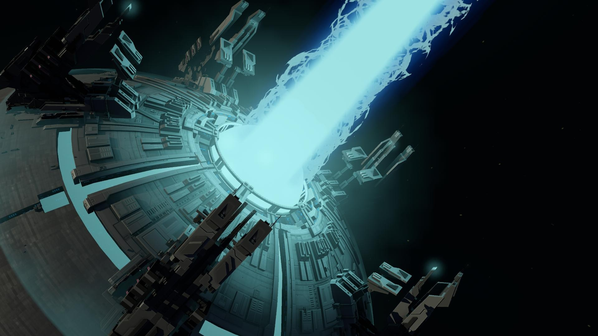 General 1920x1080 Planetary Annihilation planet space lasers laser science fiction futuristic video games cyan