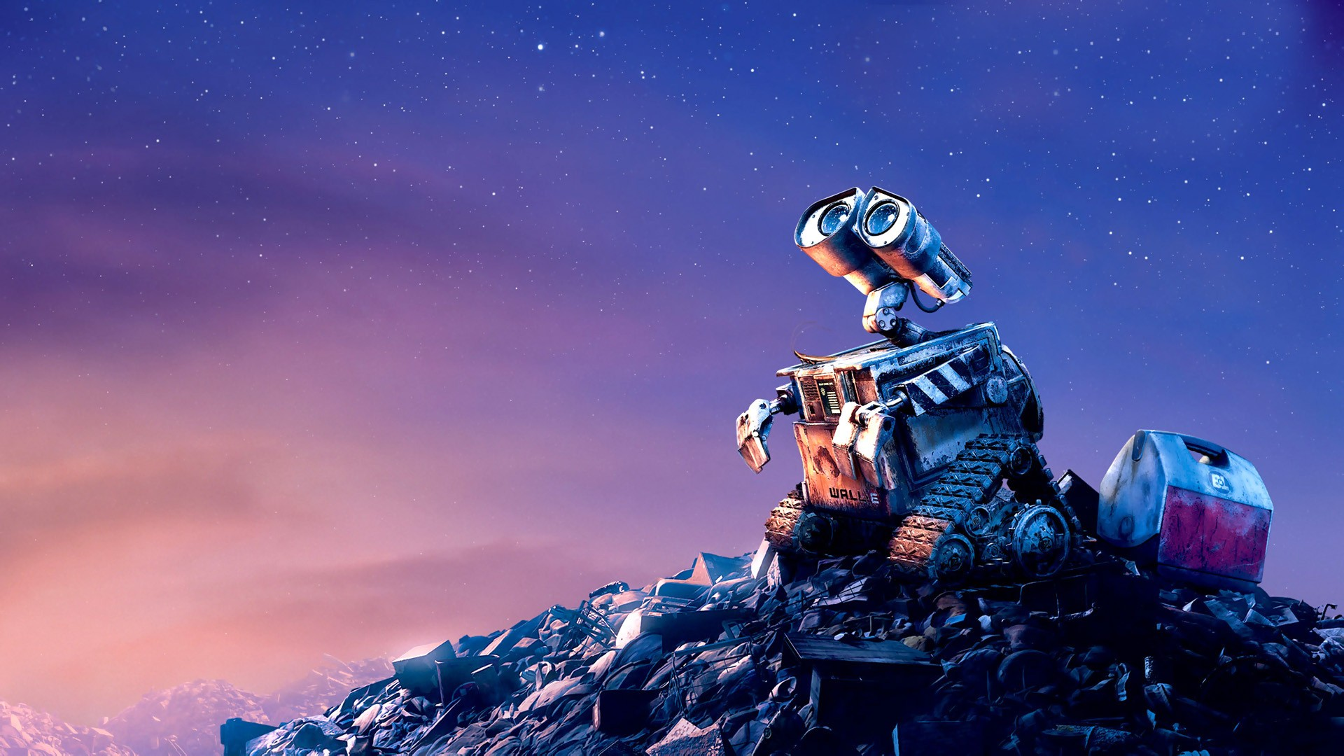General 1920x1080 WALL·E Pixar Animation Studios movies stars sky space robot WALL-E