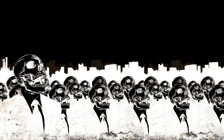 General 1440x900 artwork skull black white death minimalism suits Alex Cherry inverted monochrome