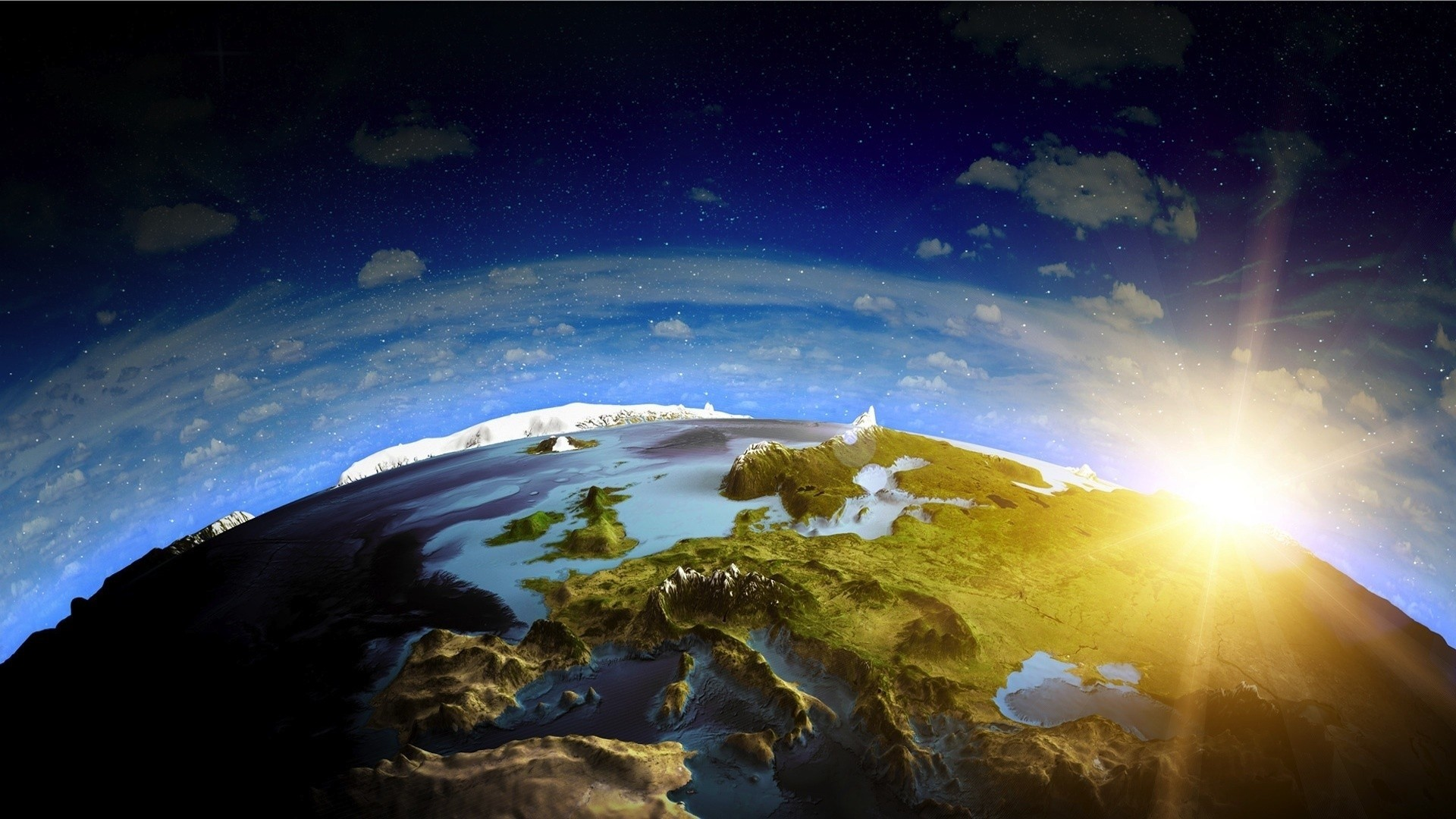 General 1920x1080 Europe world planet Earth space digital art space art landscape