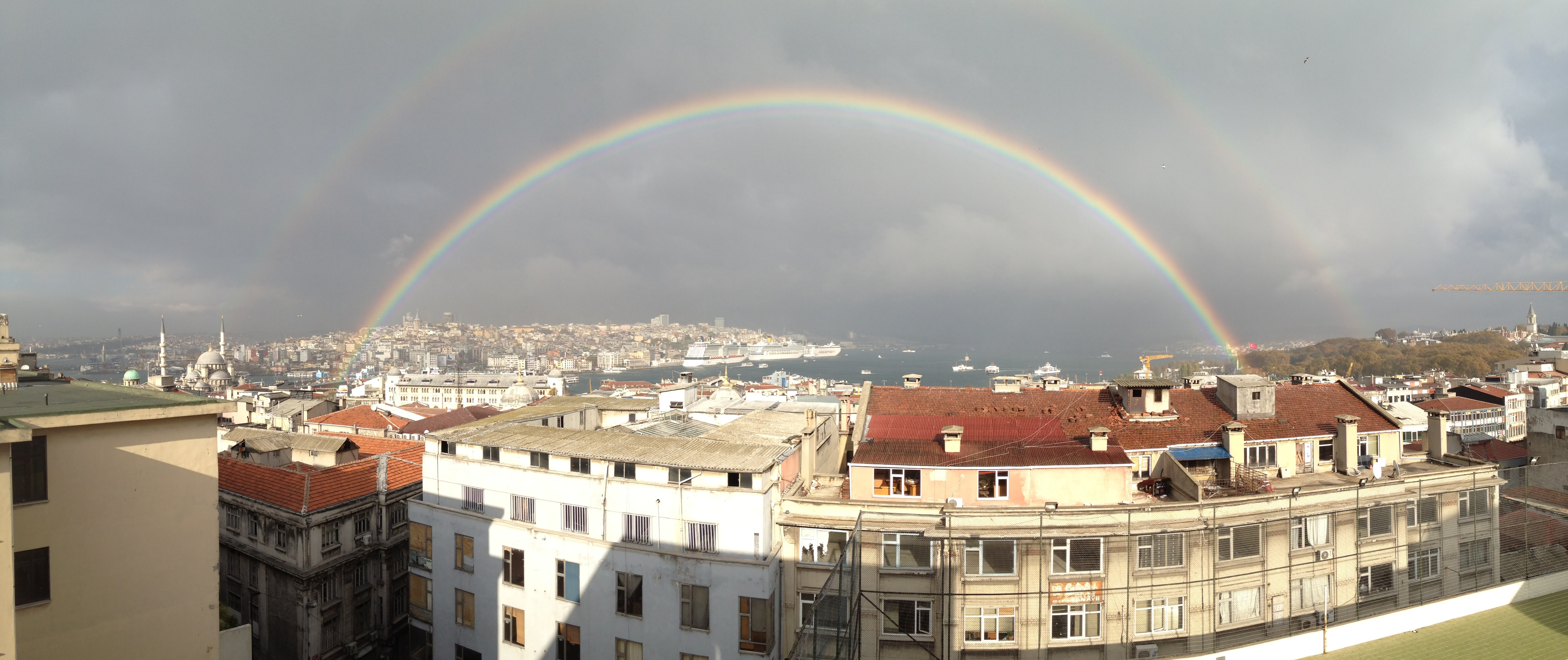 General 5712x2404 Istanbul Bosphorus rainbows