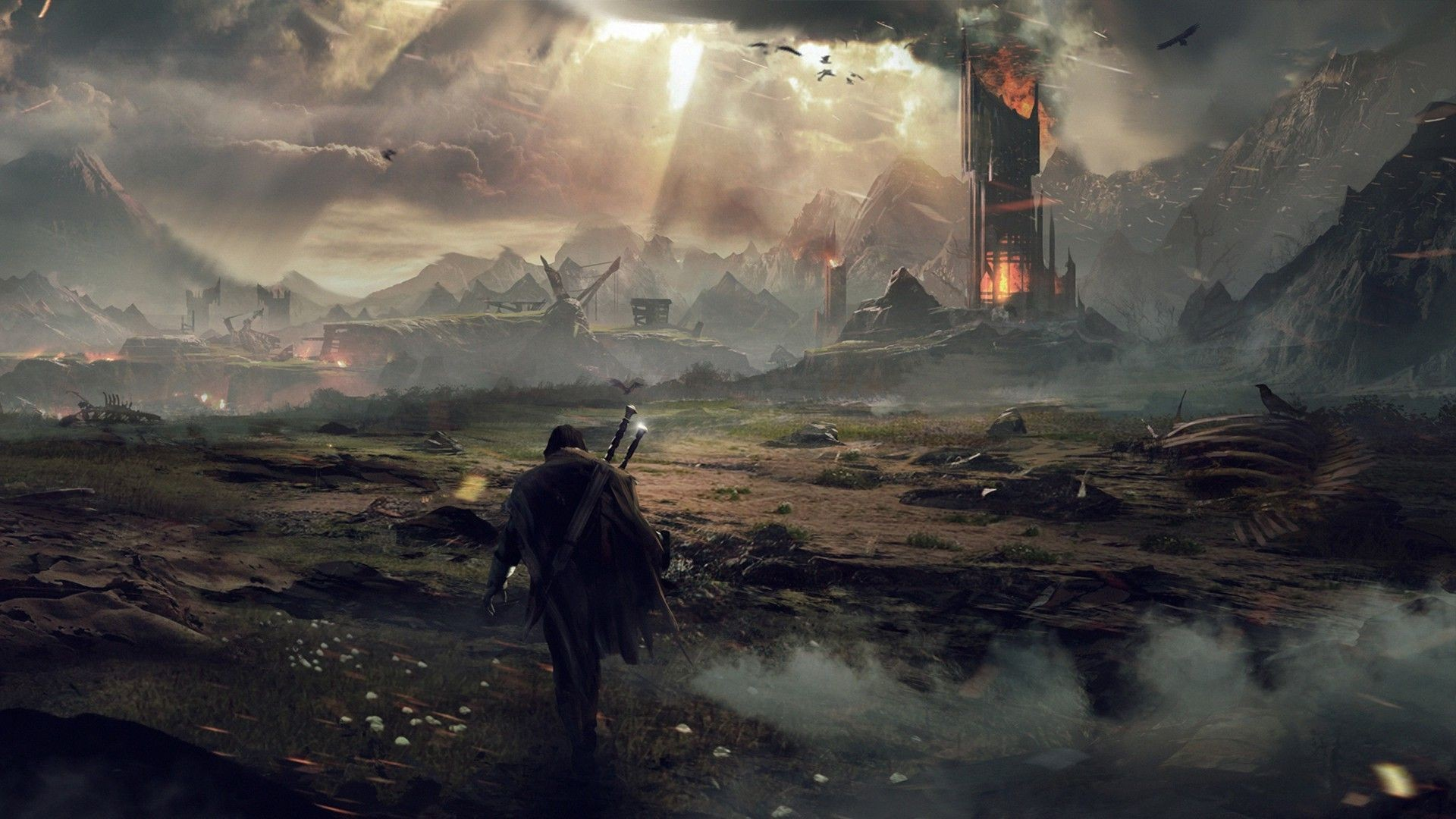 General 1920x1080 video games The Lord of the Rings Mordor Middle-earth: Shadow of Mordor Middle-earth looking into the distance