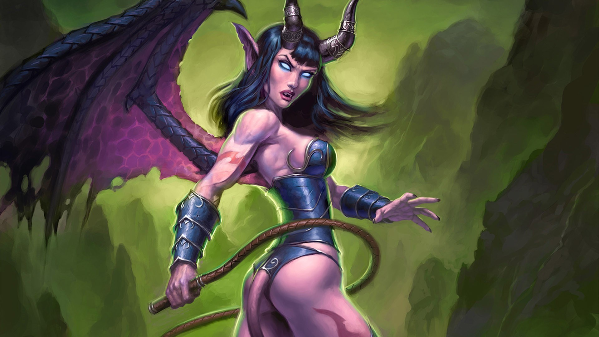 General 1920x1080 succubus video games World of Warcraft fantasy girl demon horns demon girls