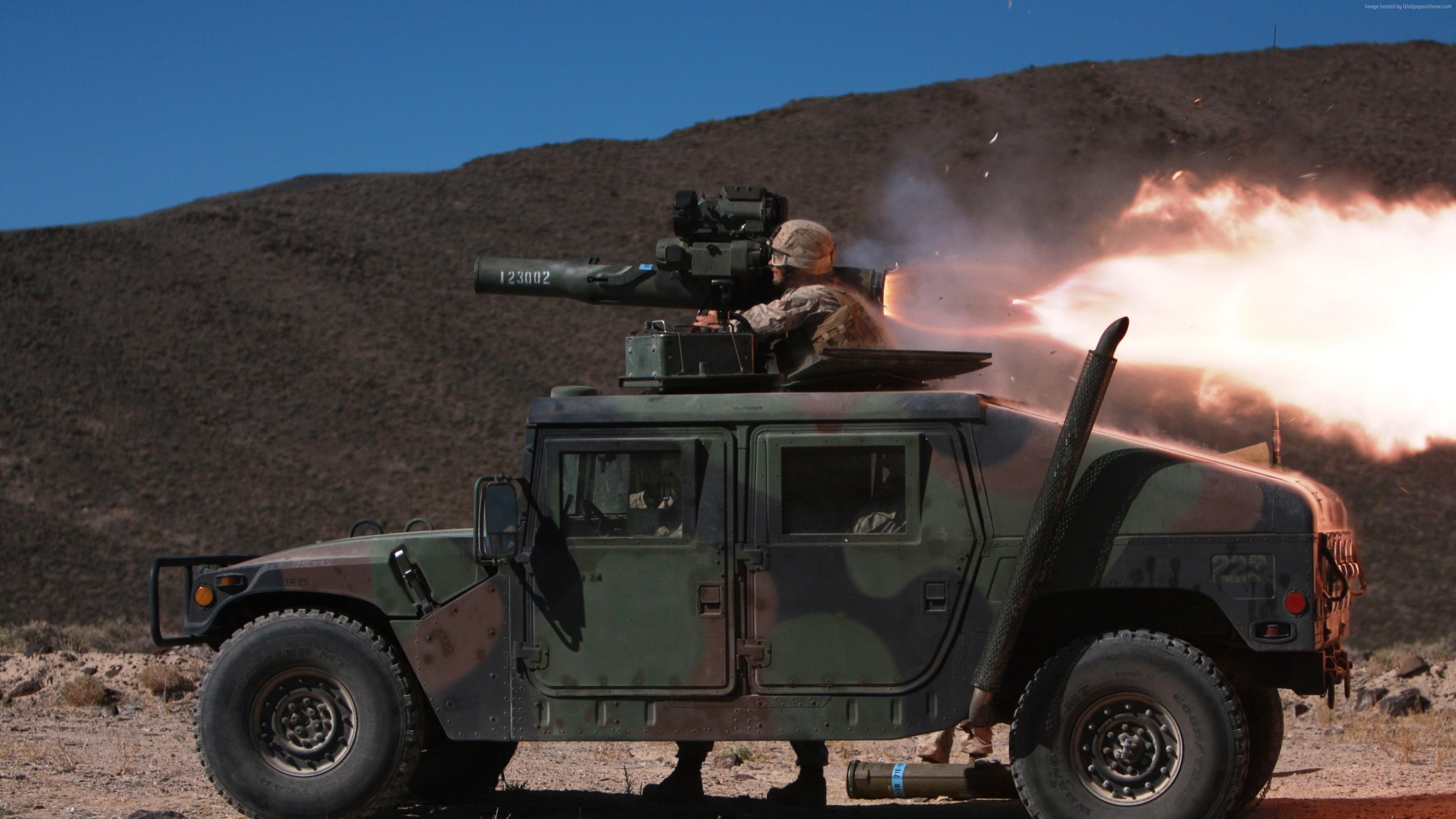 General 3840x2160 car bazookas soldier war missiles HMMWV USMC