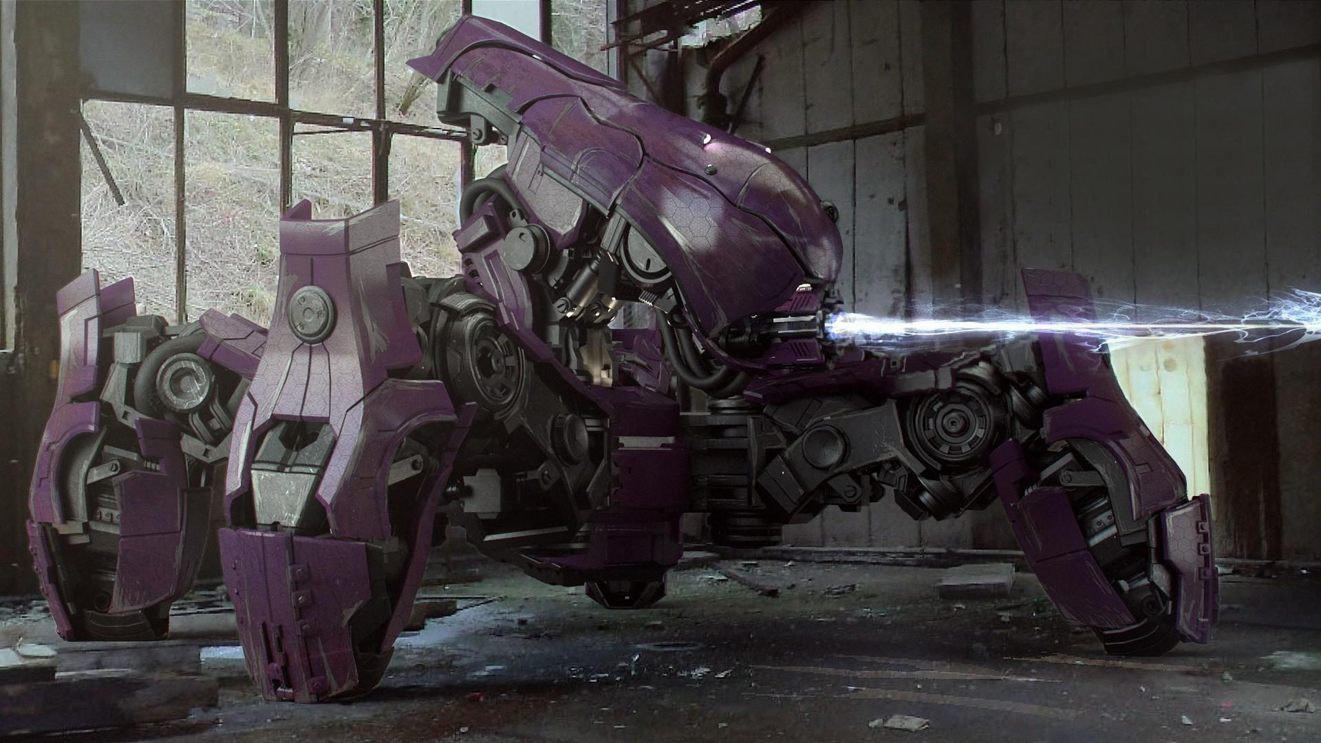 General 1920x1080 Halo video games digital art artwork robot video game art futuristic render 3D CGI machine