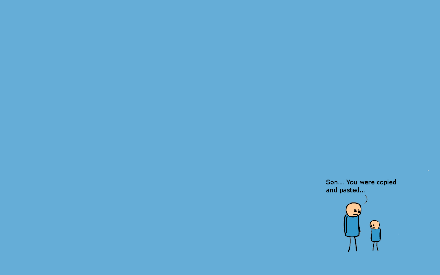 Minimalism Simple Background Blue Background Humor Cyanide And