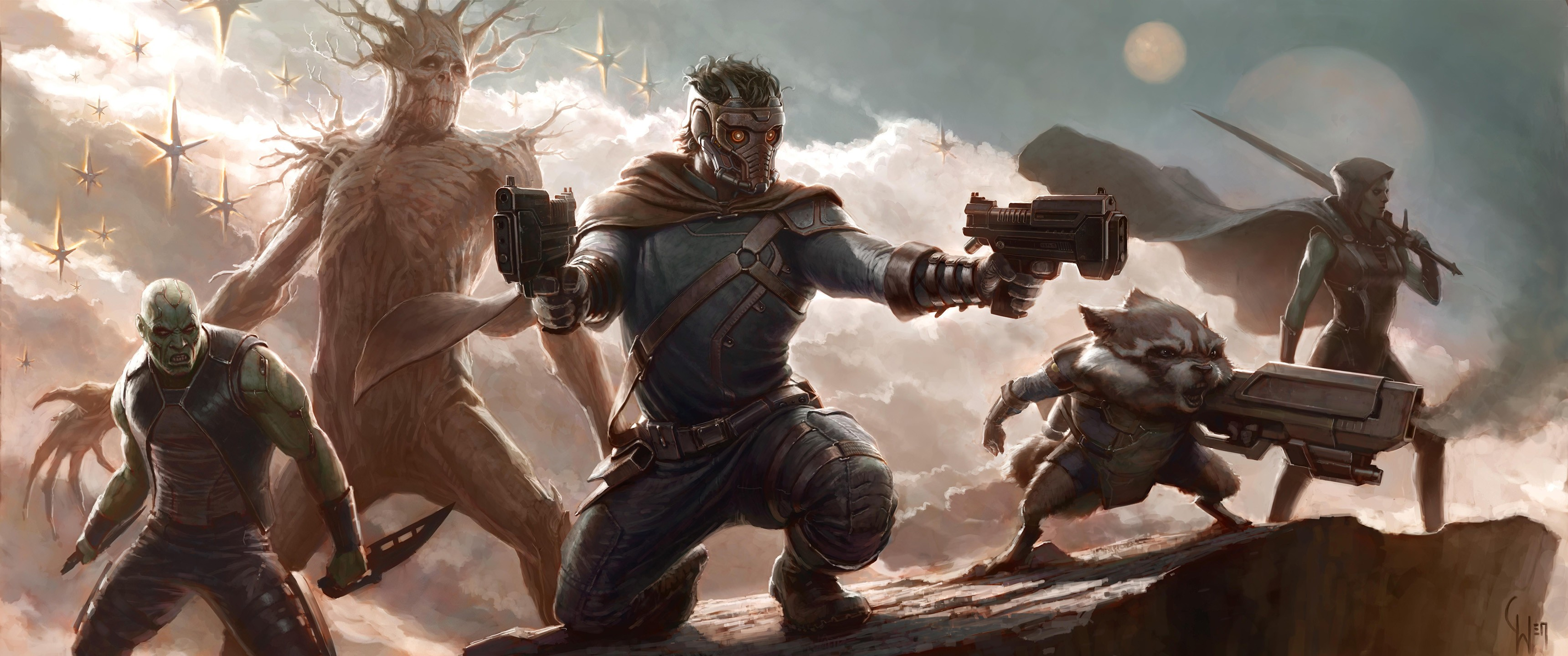 General 3440x1440 Guardians of the Galaxy movies science fiction Marvel Cinematic Universe