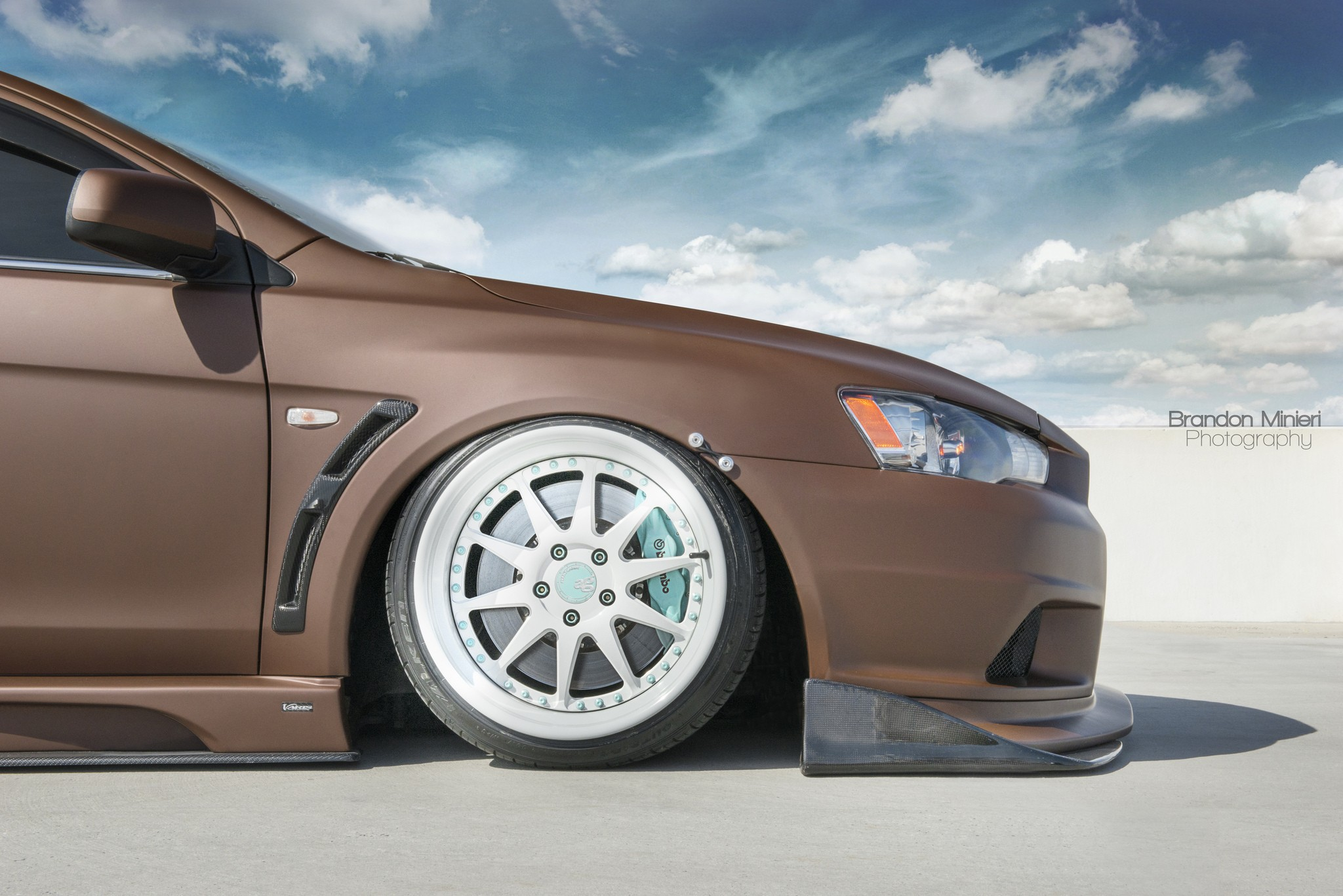 General 2048x1367 Mitsubishi Lancer Evo X Mitsubishi Lancer Mitsubishi chocolate car vehicle colored wheels wheels