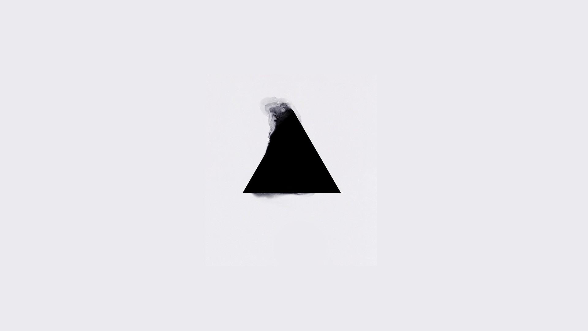 General 1920x1080 minimalism triangle geometry white background abstract simple background digital art white monochrome digital