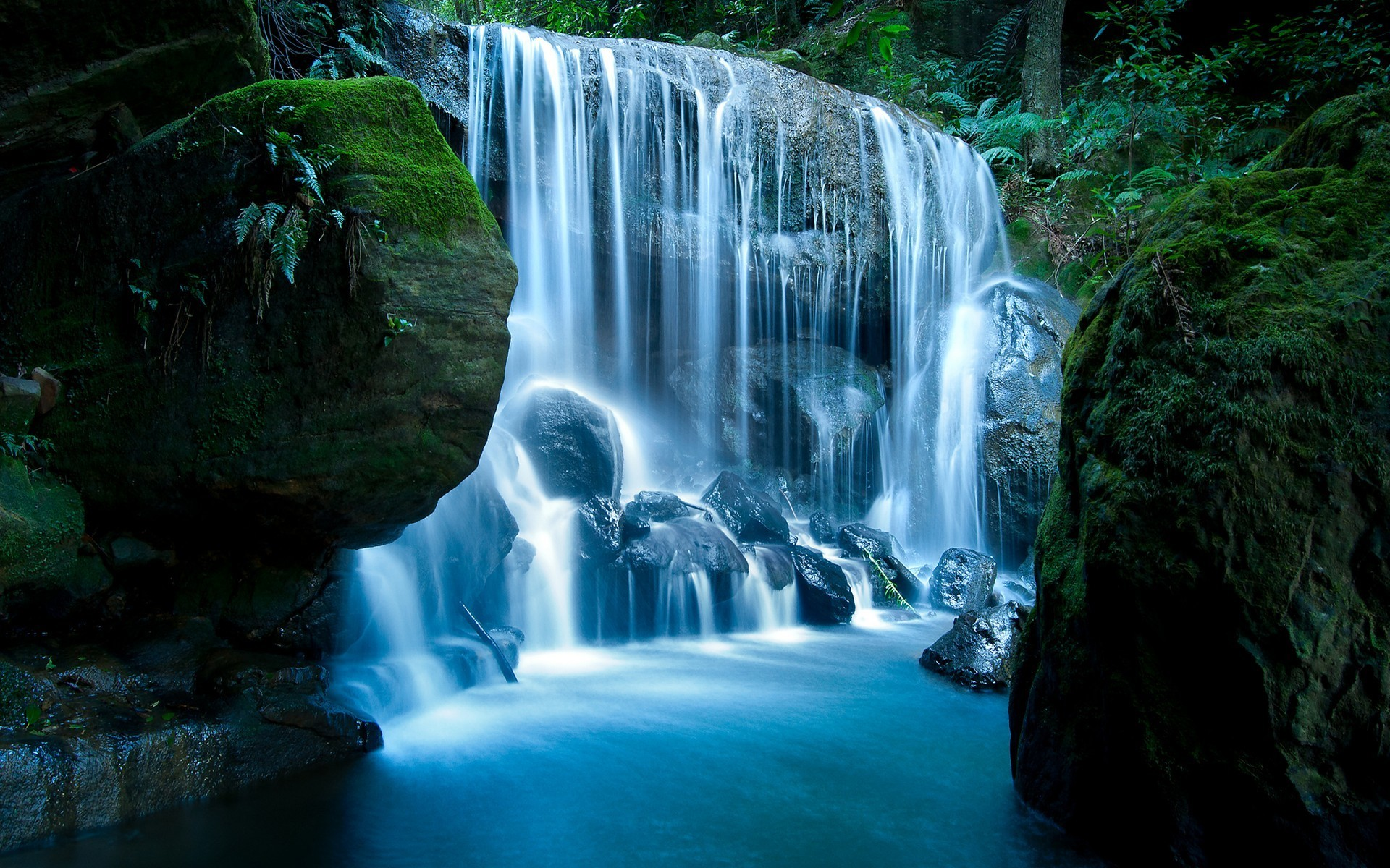 General 1920x1200 nature waterfall water outdoors moss rock