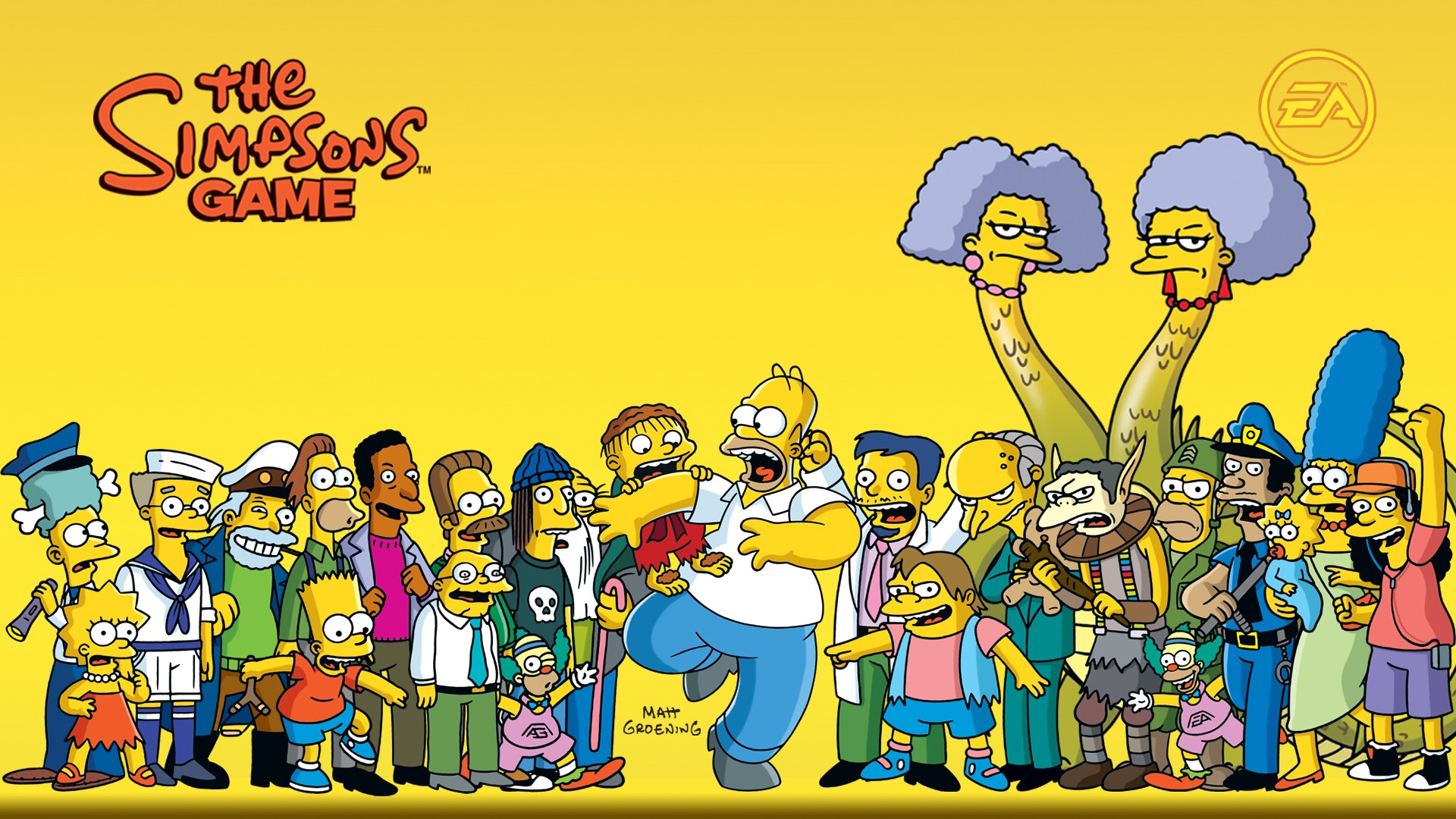 General 1920x1080 The Simpsons Homer Simpson Montgomery Burns Sideshow Bob Lisa Simpson Bart Simpson Moe Sislag Maggie Simpson Marge Simpson Selma Bouvier