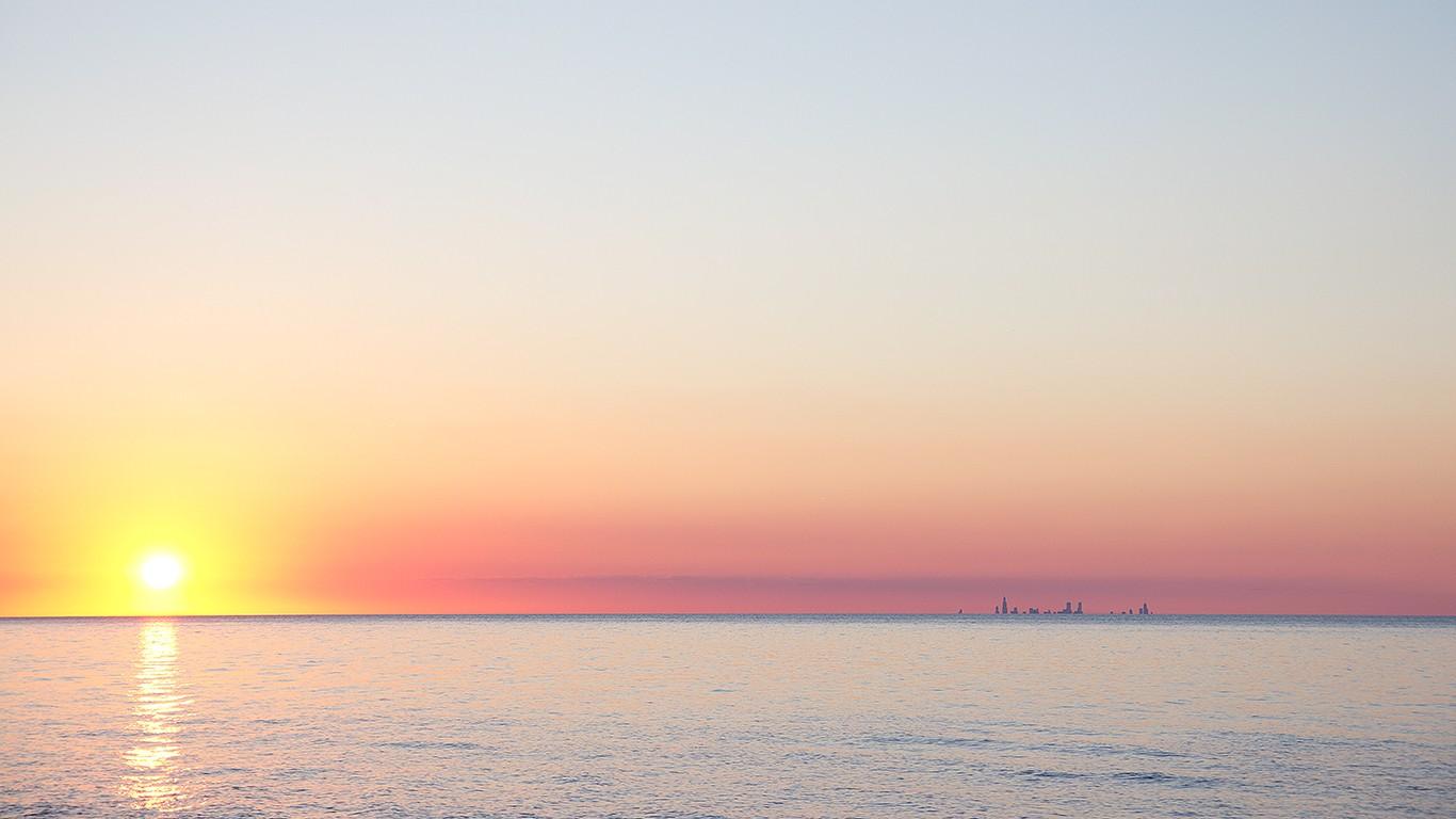 General 1366x768 beach horizon sunlight sky