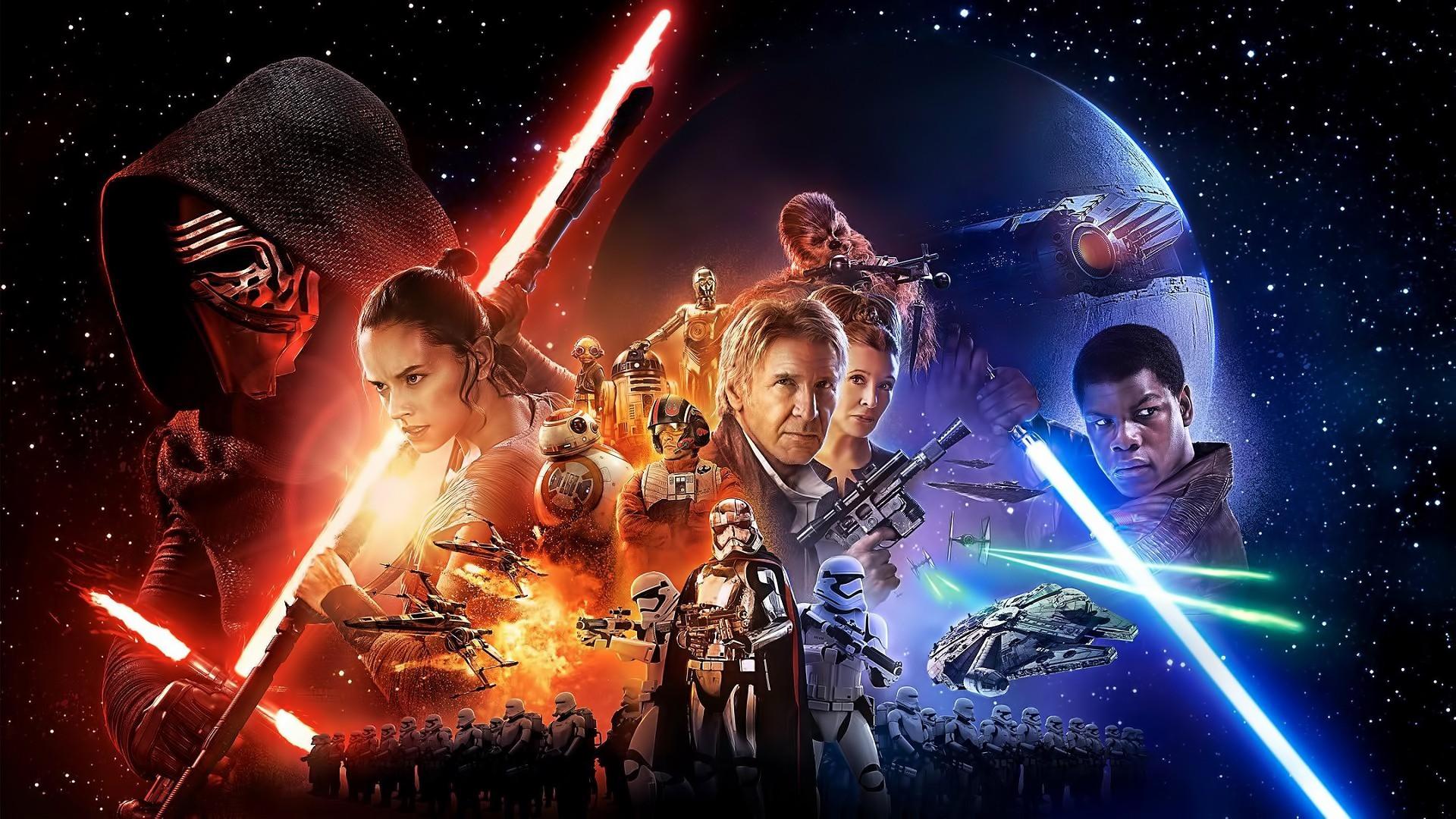 General 1920x1080 Kylo Ren Captain Phasma Phasma Rey Star Wars: The Force Awakens lightsaber Star Wars Jedi Sith Millennium Falcon science fiction Chewbacca Han Solo
