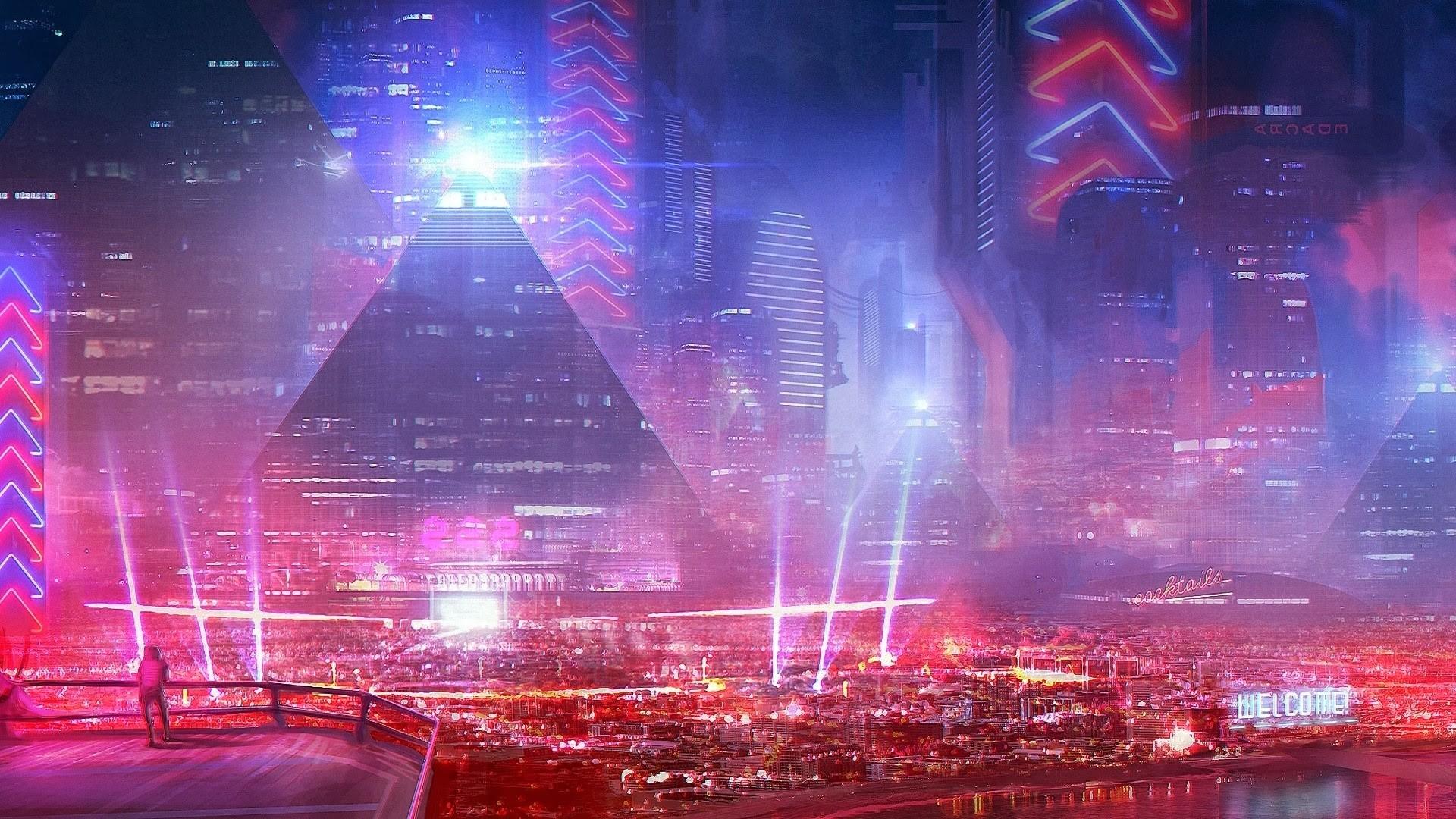 General 1920x1080 city cyberpunk science fiction futuristic city cityscape TheFatRat