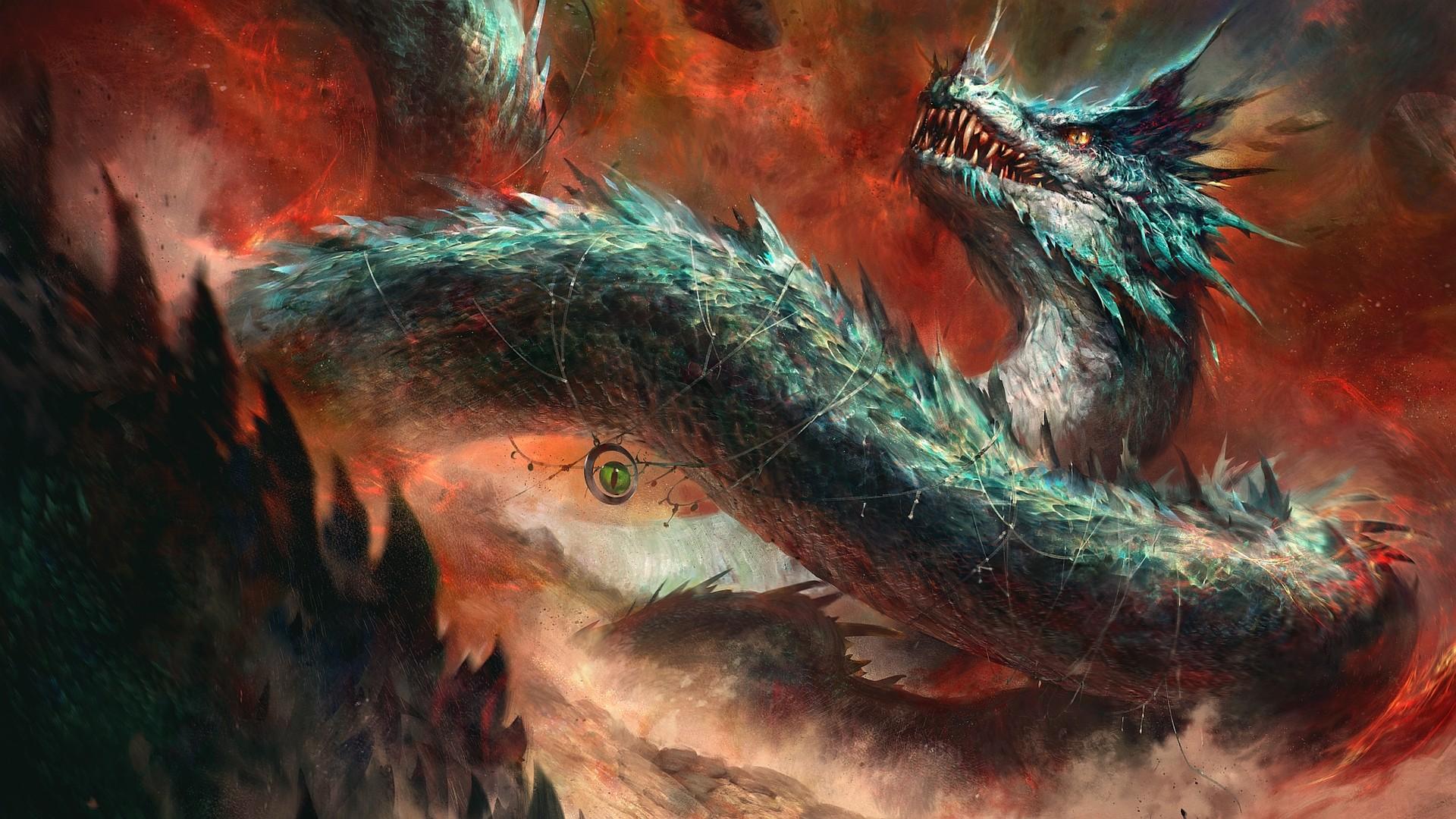 General 1920x1080 dragon artwork digital art creature fantasy art