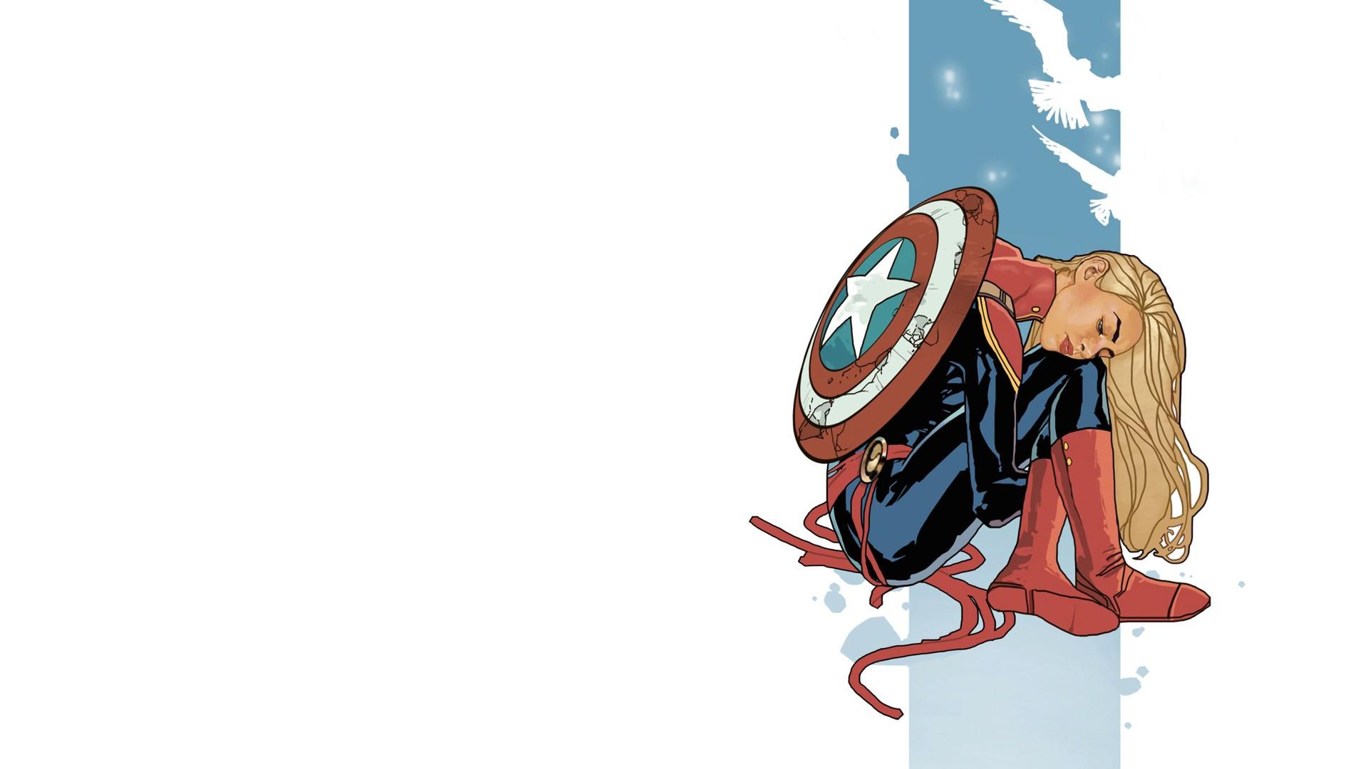 General 1920x1080 Captain Marvel superhero Marvel Comics