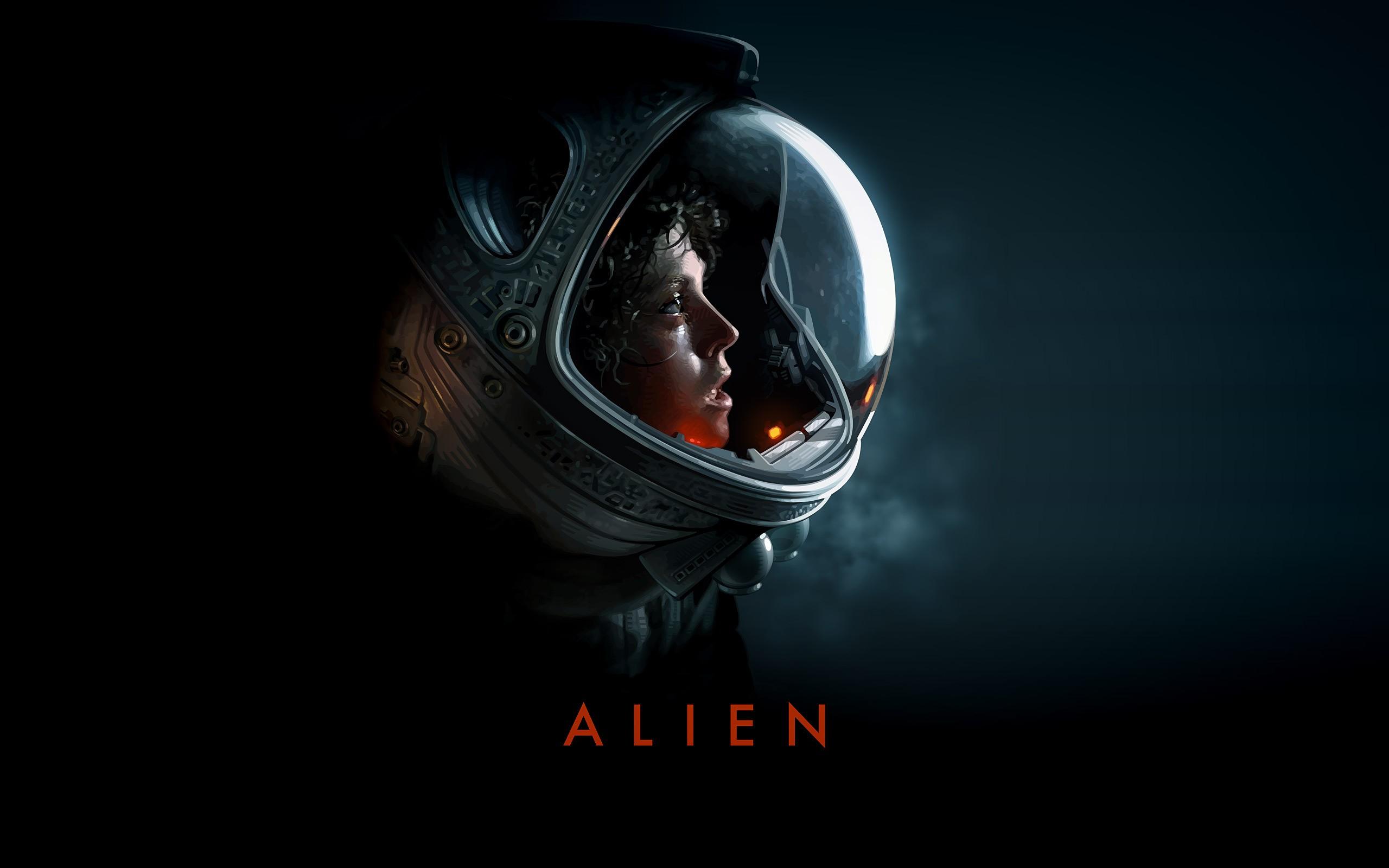 General 2560x1600 aliens Alien (movie) Sigourney Weaver Ellen Ripley artwork science fiction space suit movies horror