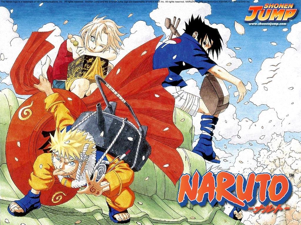 Anime 1024x768 Haruno Sakura Uchiha Sasuke Uzumaki Naruto