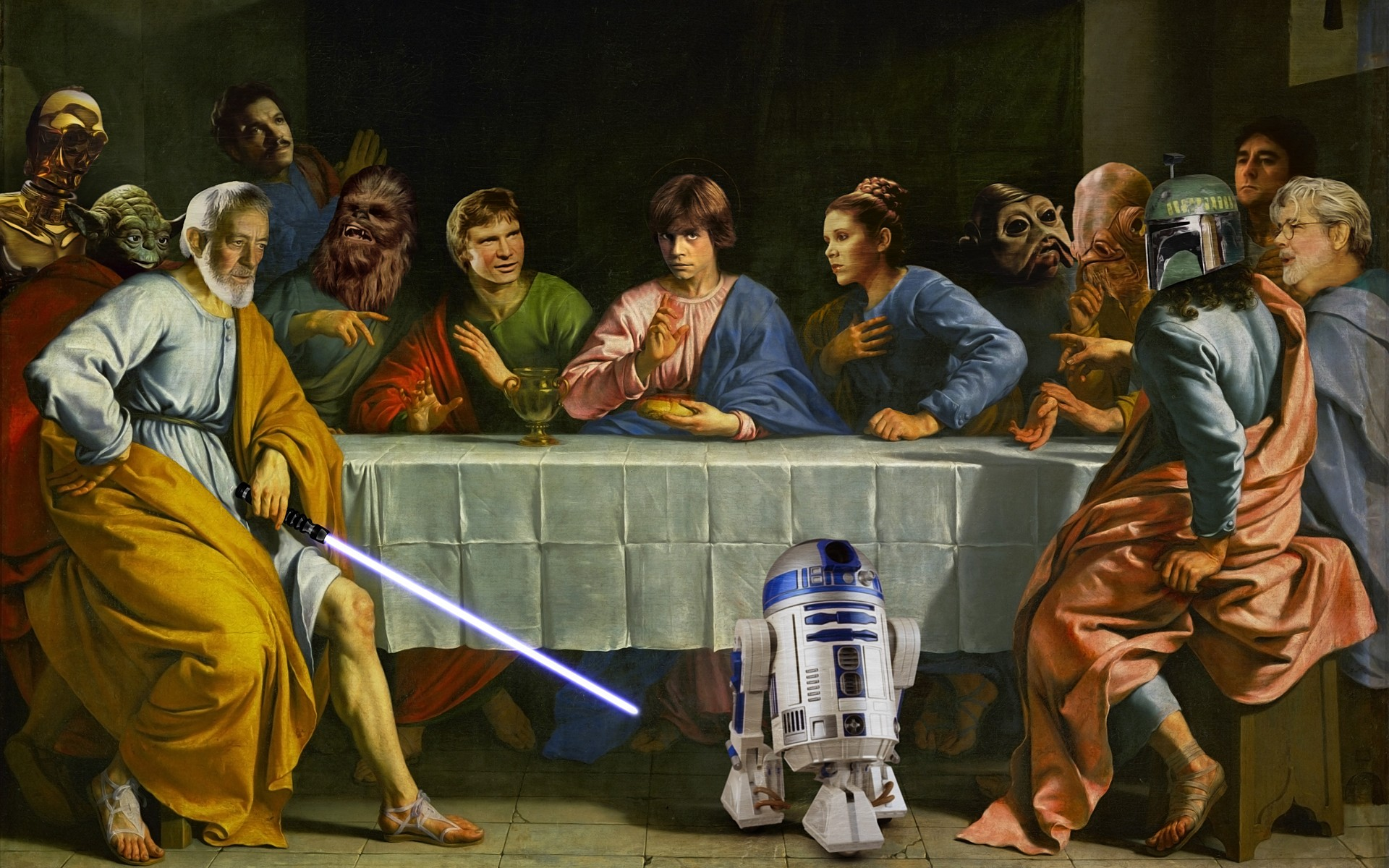 General 1920x1200 Star Wars crossover The Last Supper