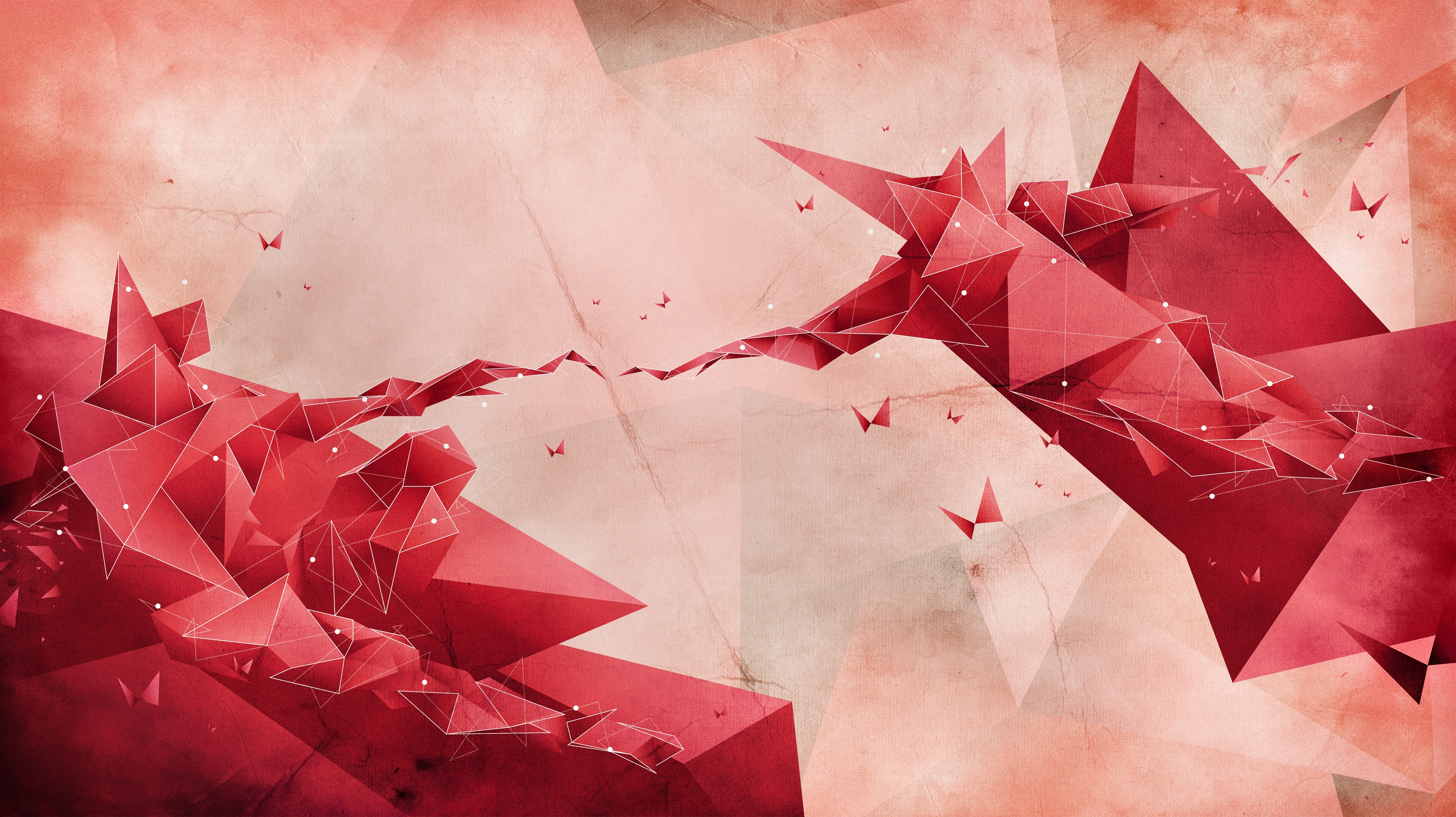 General 3500x1965 digital art The Creation of Adam low poly imagination lines geometry dots simple Michelangelo triangle artwork 3D
