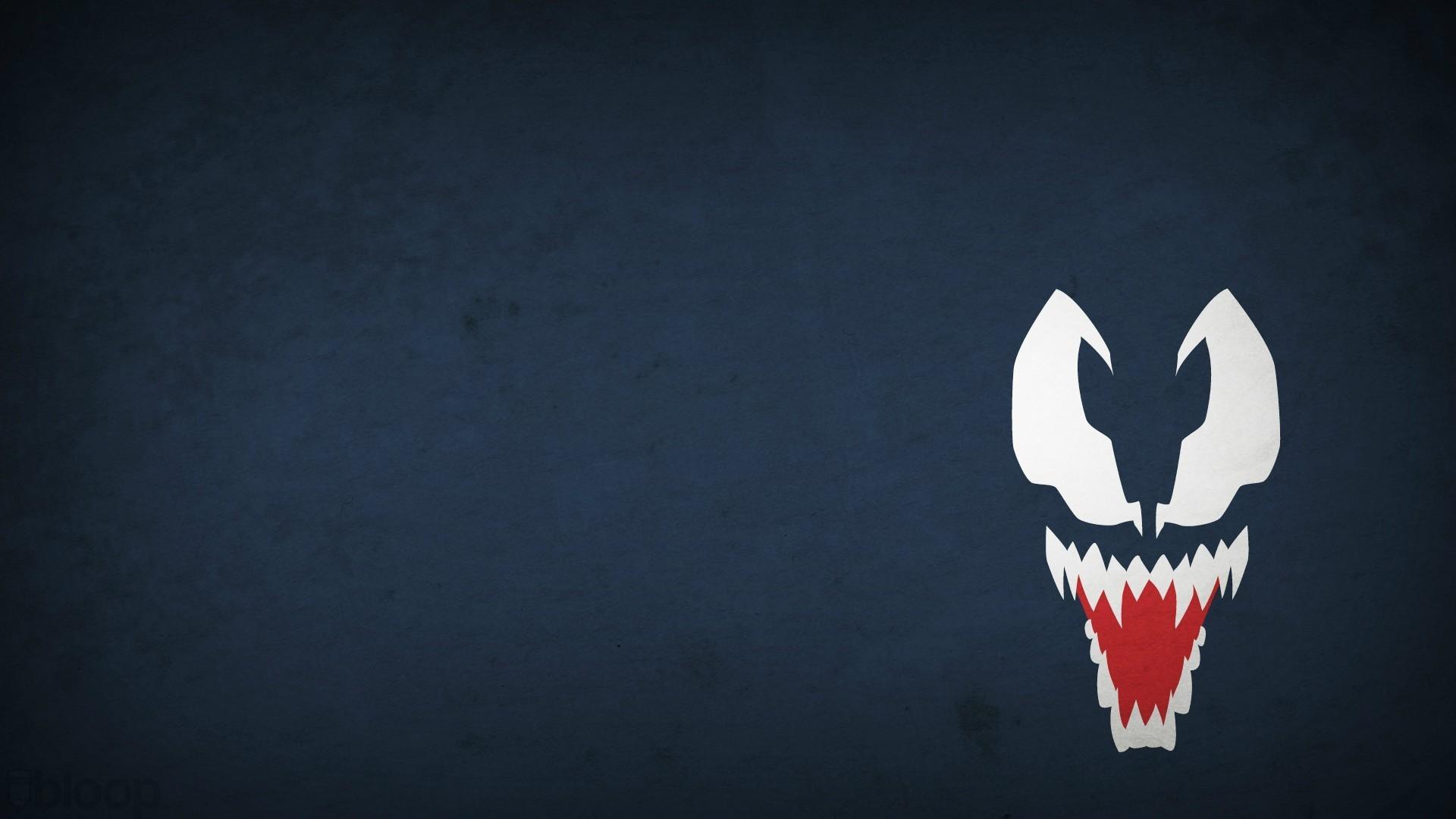 General 1920x1080 minimalism artwork cartoon blue Blo0p Marvel Comics villains Venom