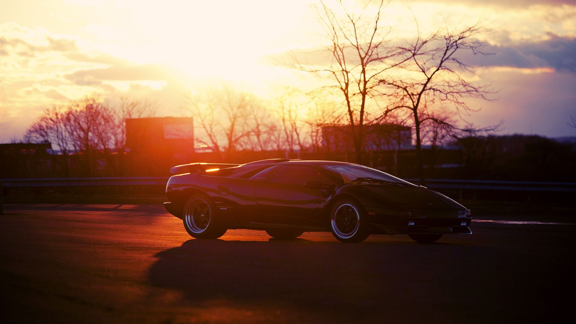General 1920x1080 car Lamborghini Diablo Sv Lamborghini vehicle supercars pop-up headlights sunlight