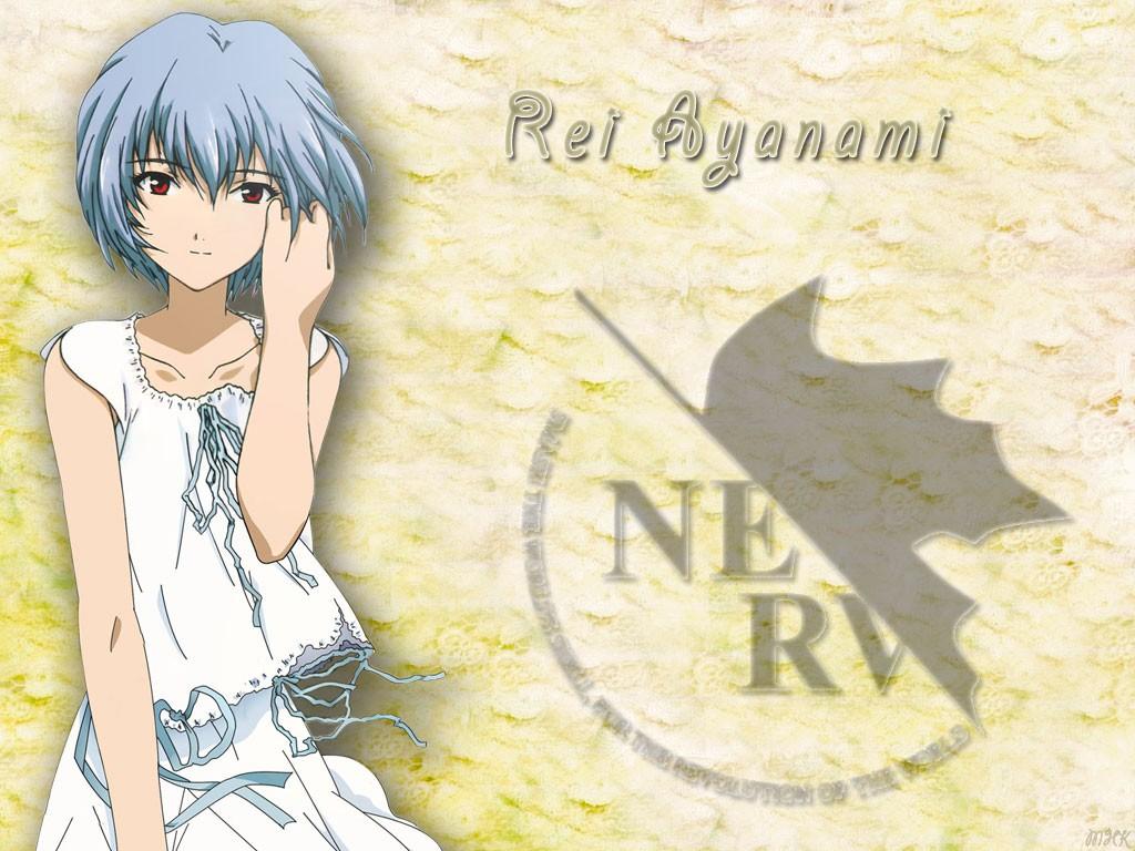 Anime 1024x768 Ayanami Rei anime blue hair Neon Genesis Evangelion Nerv anime girls