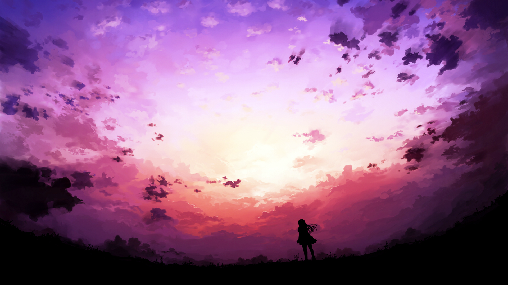 Anime 1920x1080 fantasy art anime girls sky anime